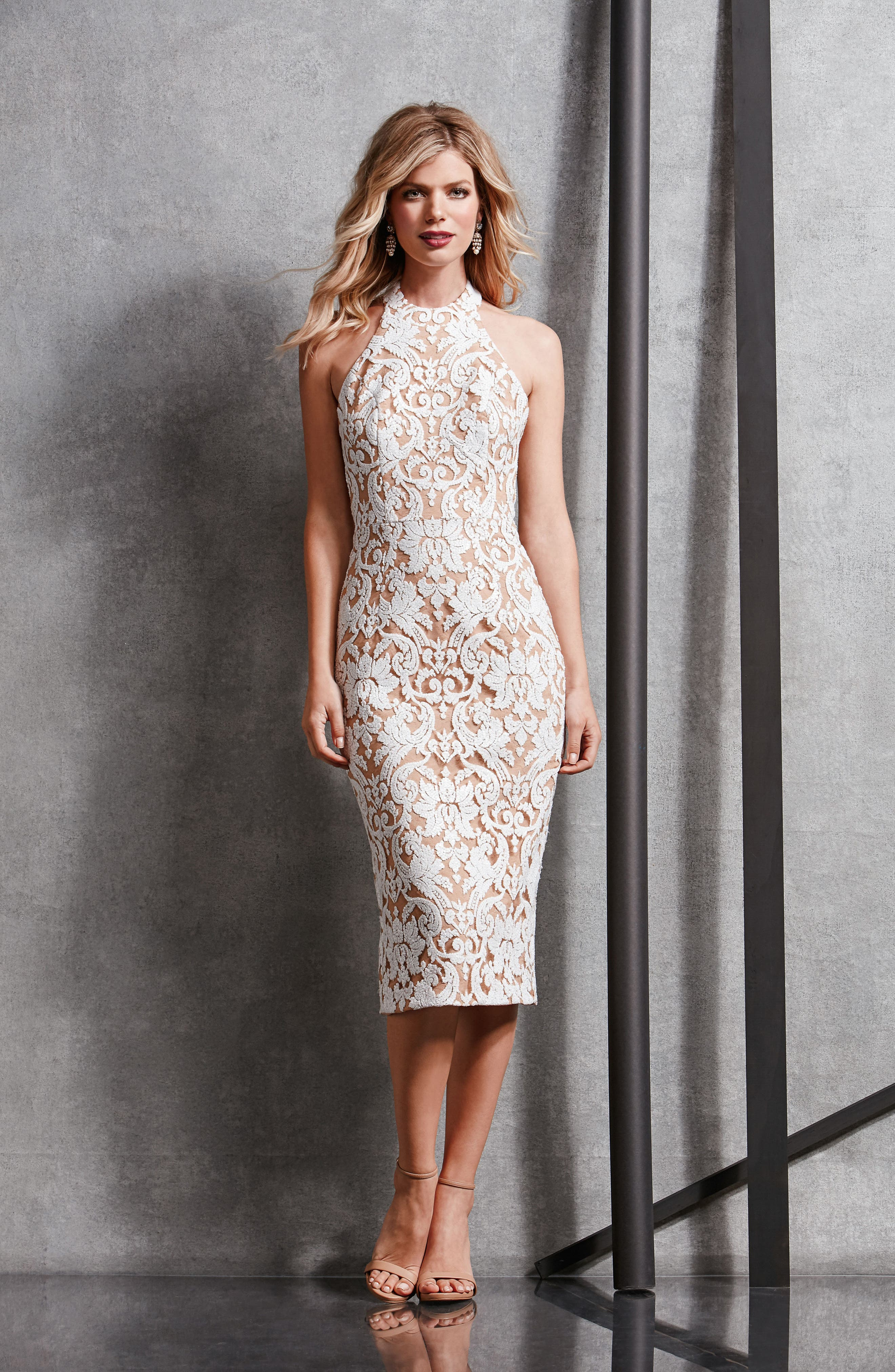 Cassie Sequin Midi Dress,                             Alternate thumbnail 30, color,