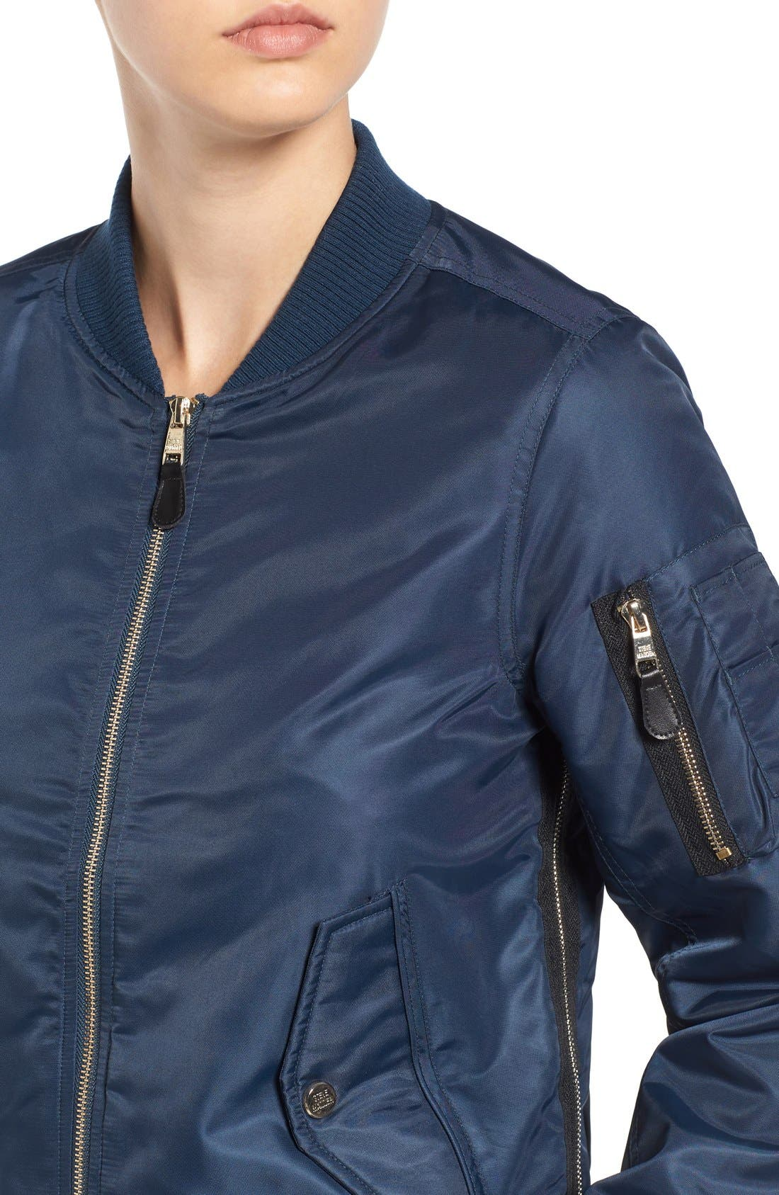 Side Zip Bomber Jacket,                             Alternate thumbnail 35, color,