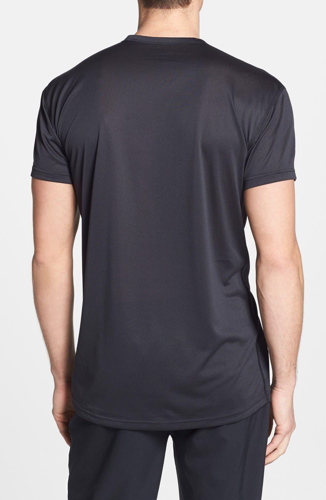 HELLY HANSEN,                             'VTR' Quick Dry T-Shirt,                             Alternate thumbnail 3, color,                             001