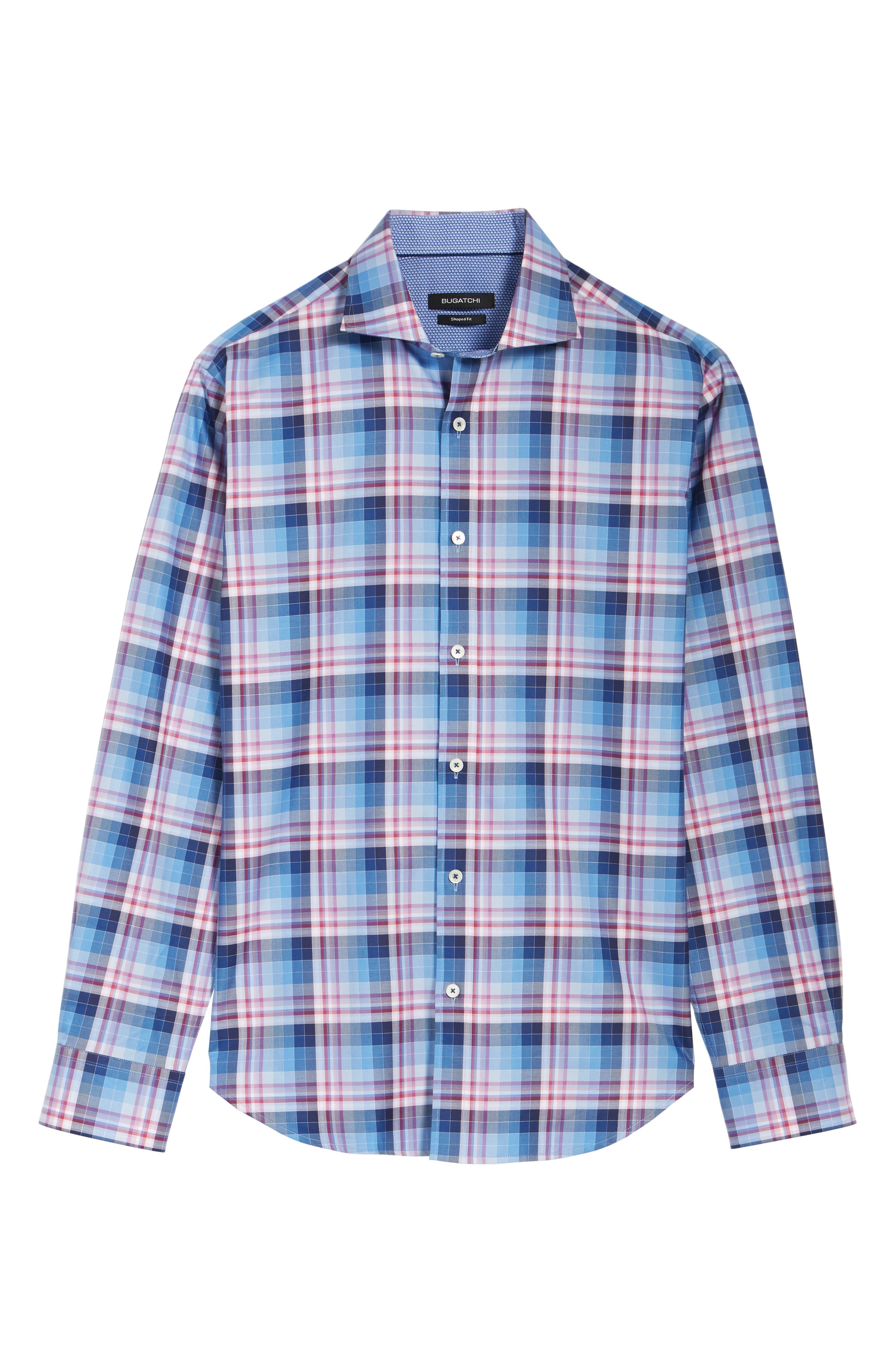 Shaped Fit Check Sport Shirt,                             Alternate thumbnail 6, color,                             420