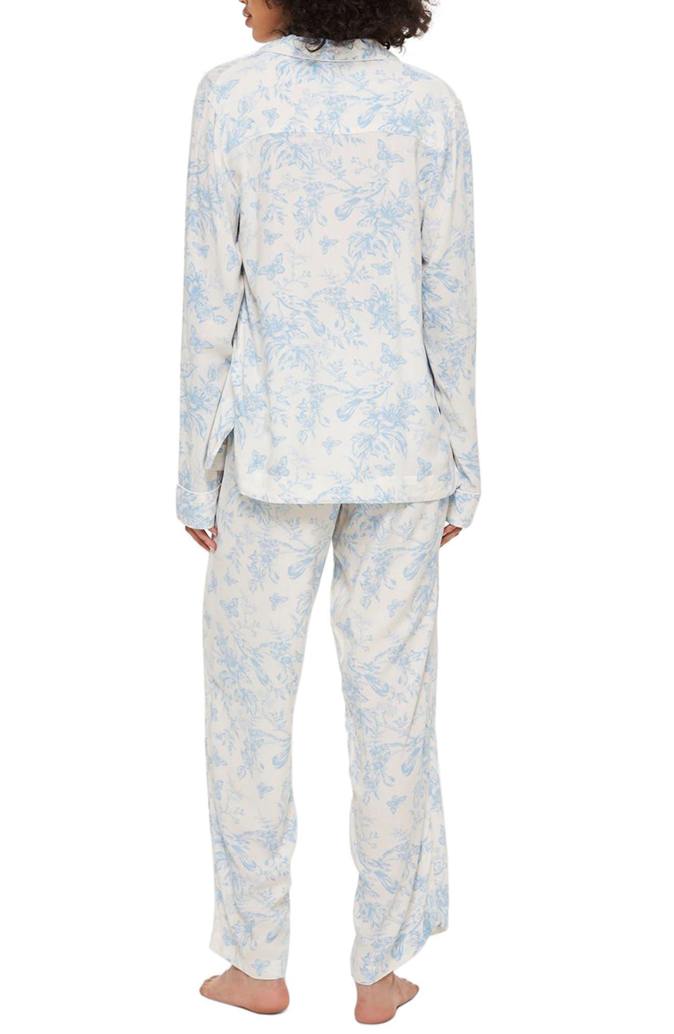 French Bird Pajamas,                             Alternate thumbnail 2, color,                             LIGHT BLUE