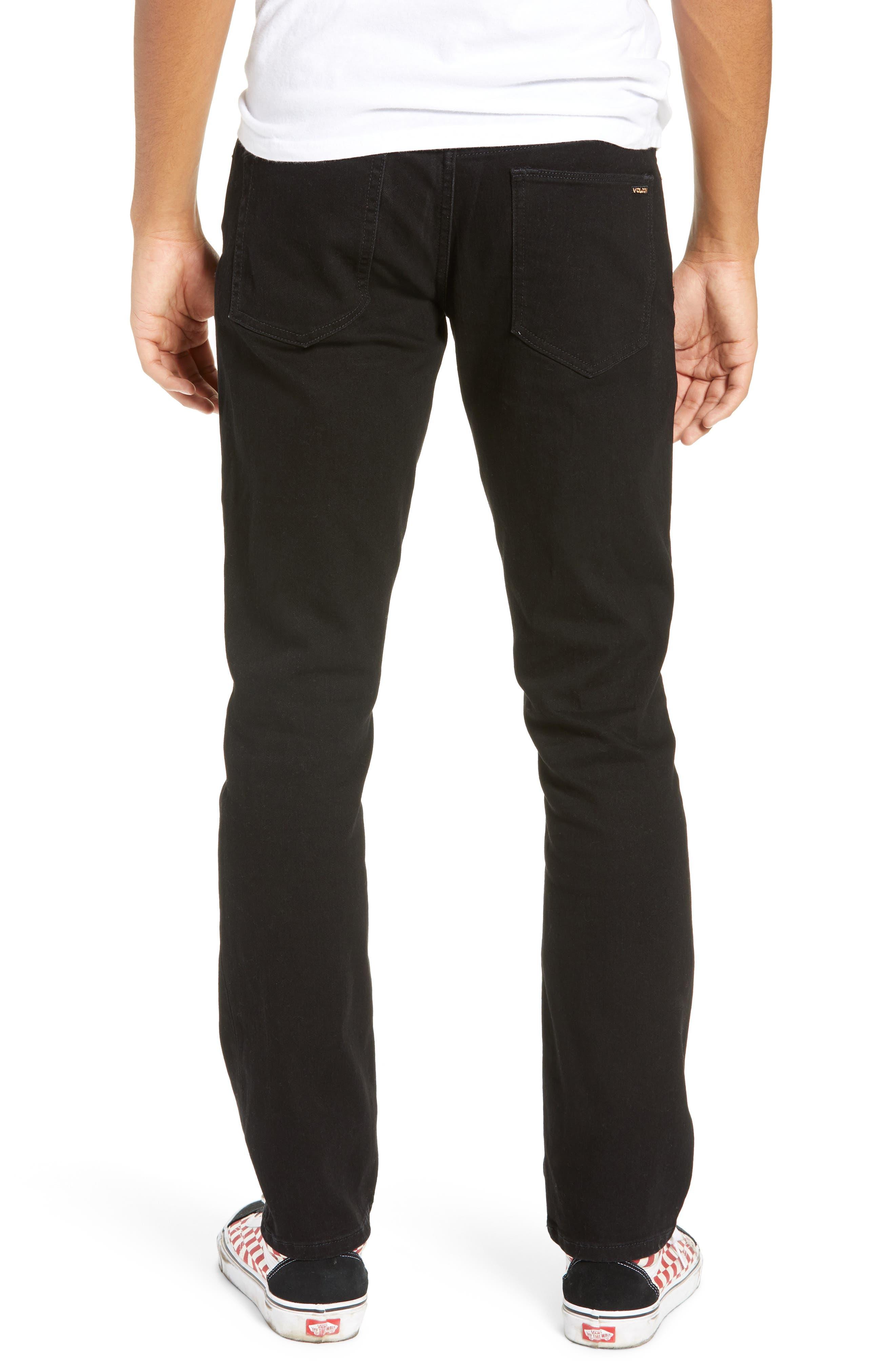 'Vorta' Slim Fit Jeans,                             Alternate thumbnail 2, color,                             BLACK OUT