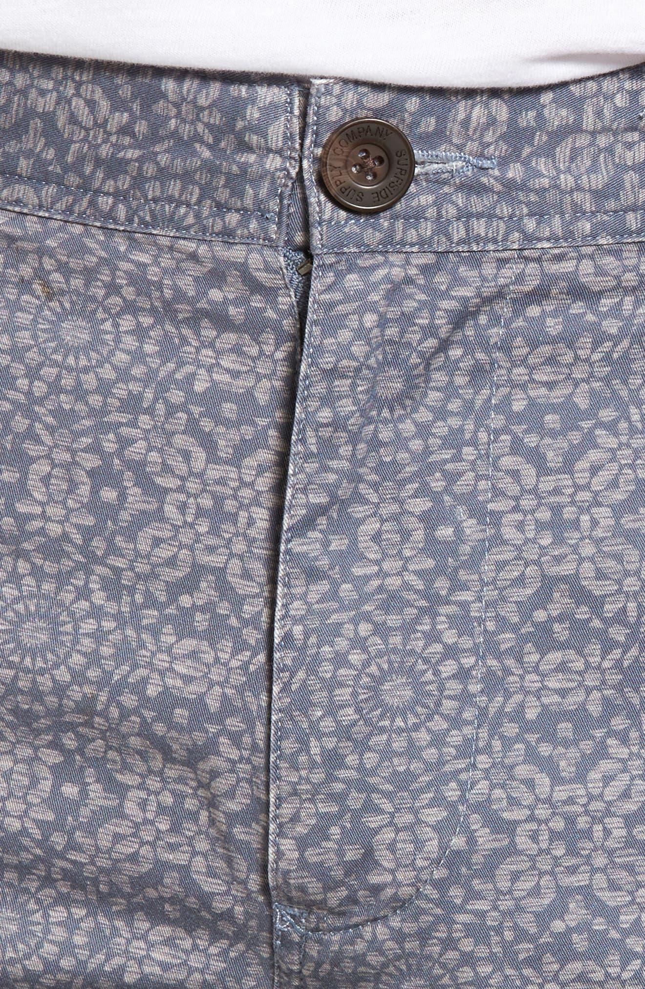 Flat Front Mandala Print Shorts,                             Alternate thumbnail 4, color,                             070