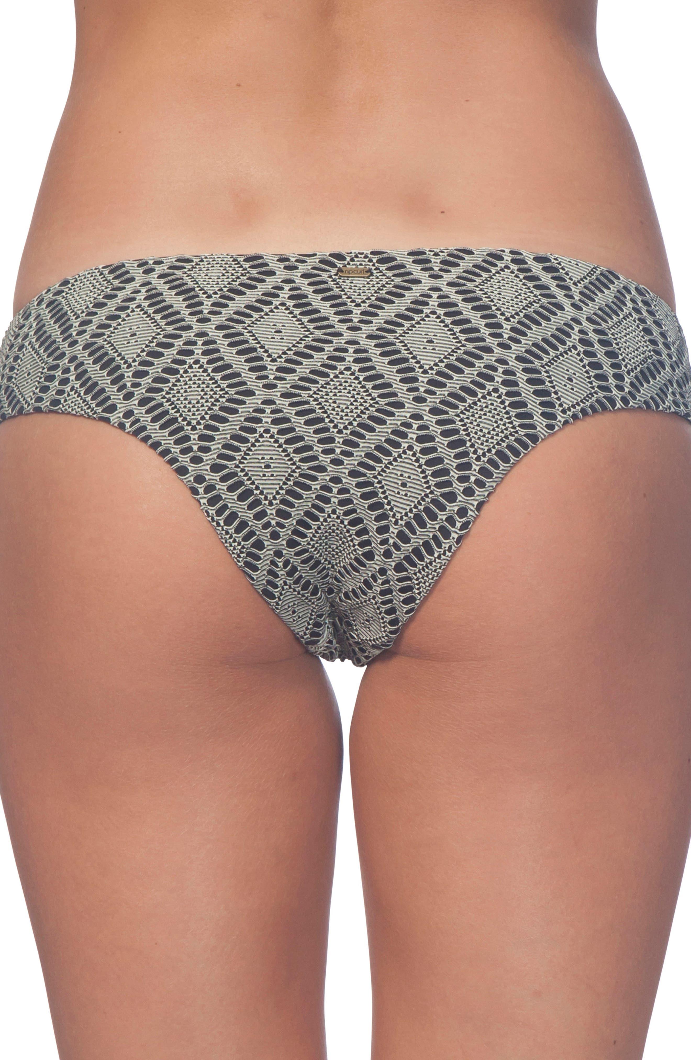 Day Break Luxe Hipster Bikini Bottoms,                             Alternate thumbnail 2, color,                             001