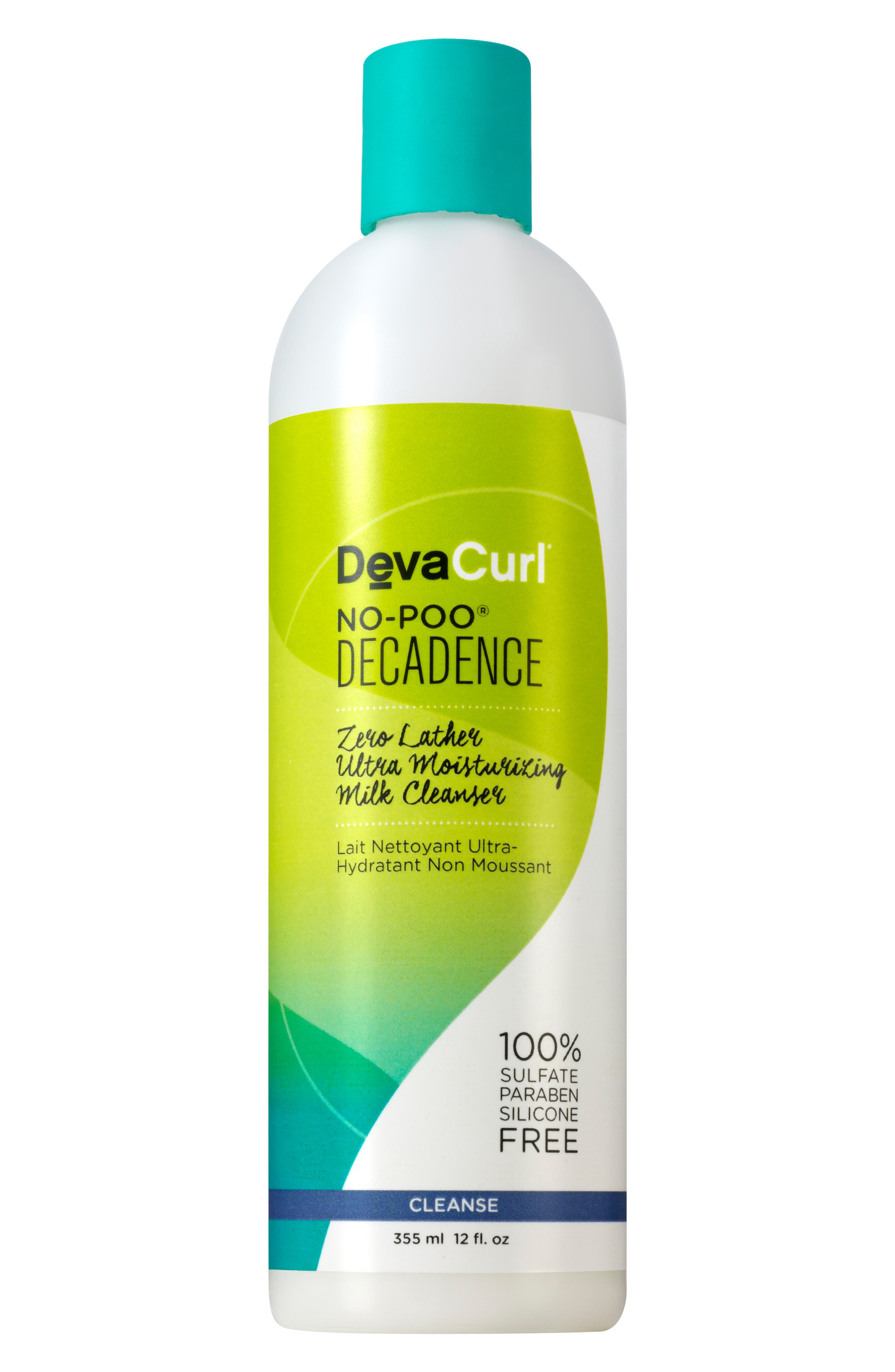 DEVACURL,                             No-Poo<sup>®</sup> Decadence Zero Lather Ultra Moisturizing Milk Cleanser,                             Alternate thumbnail 4, color,                             NO COLOR