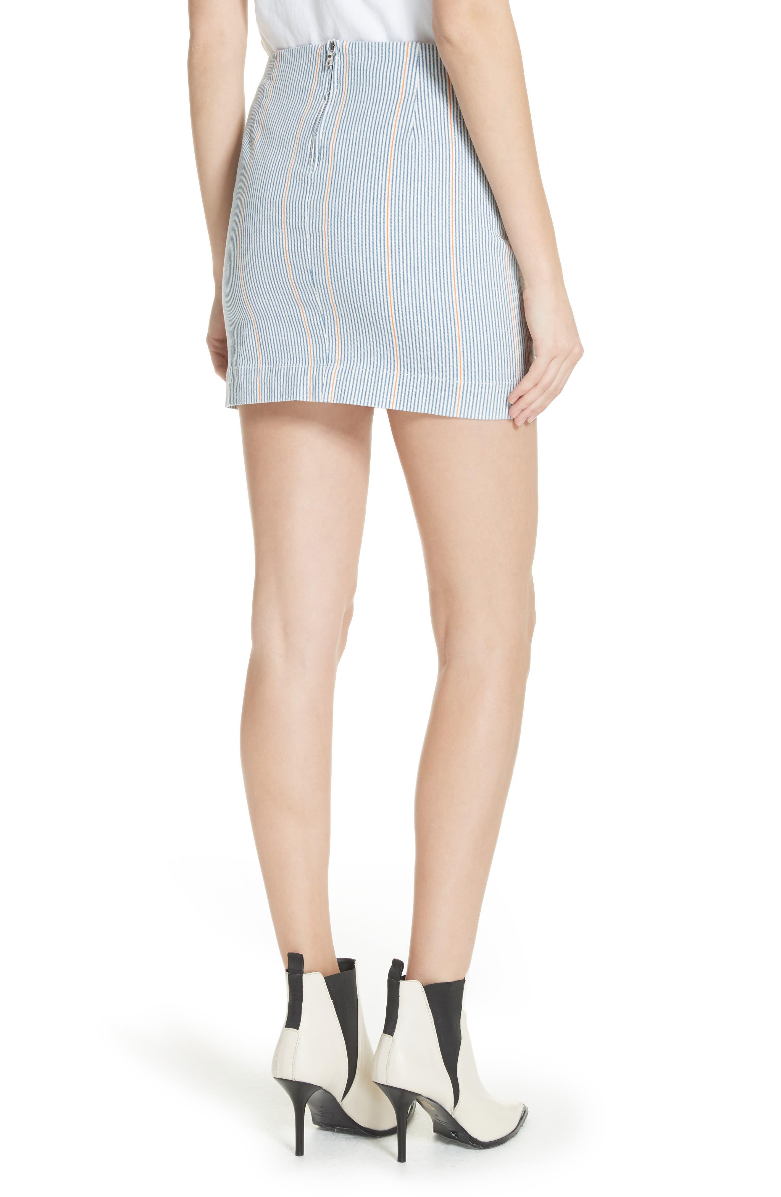 Jane Stripe Ruffle Detail Skirt,                             Alternate thumbnail 2, color,                             NILLIE SKIRT