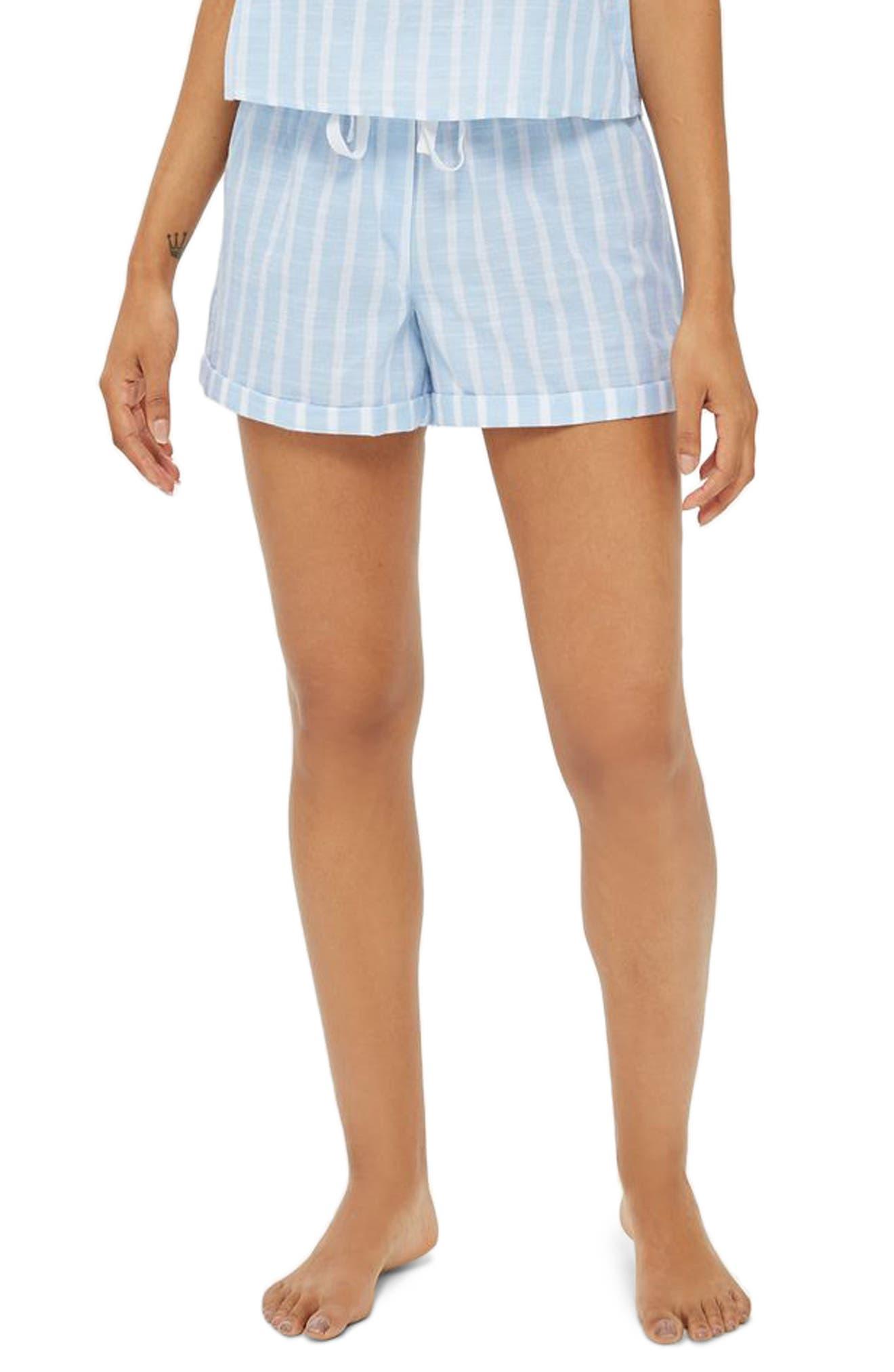 Stripe Pajama Shorts,                             Main thumbnail 1, color,                             450