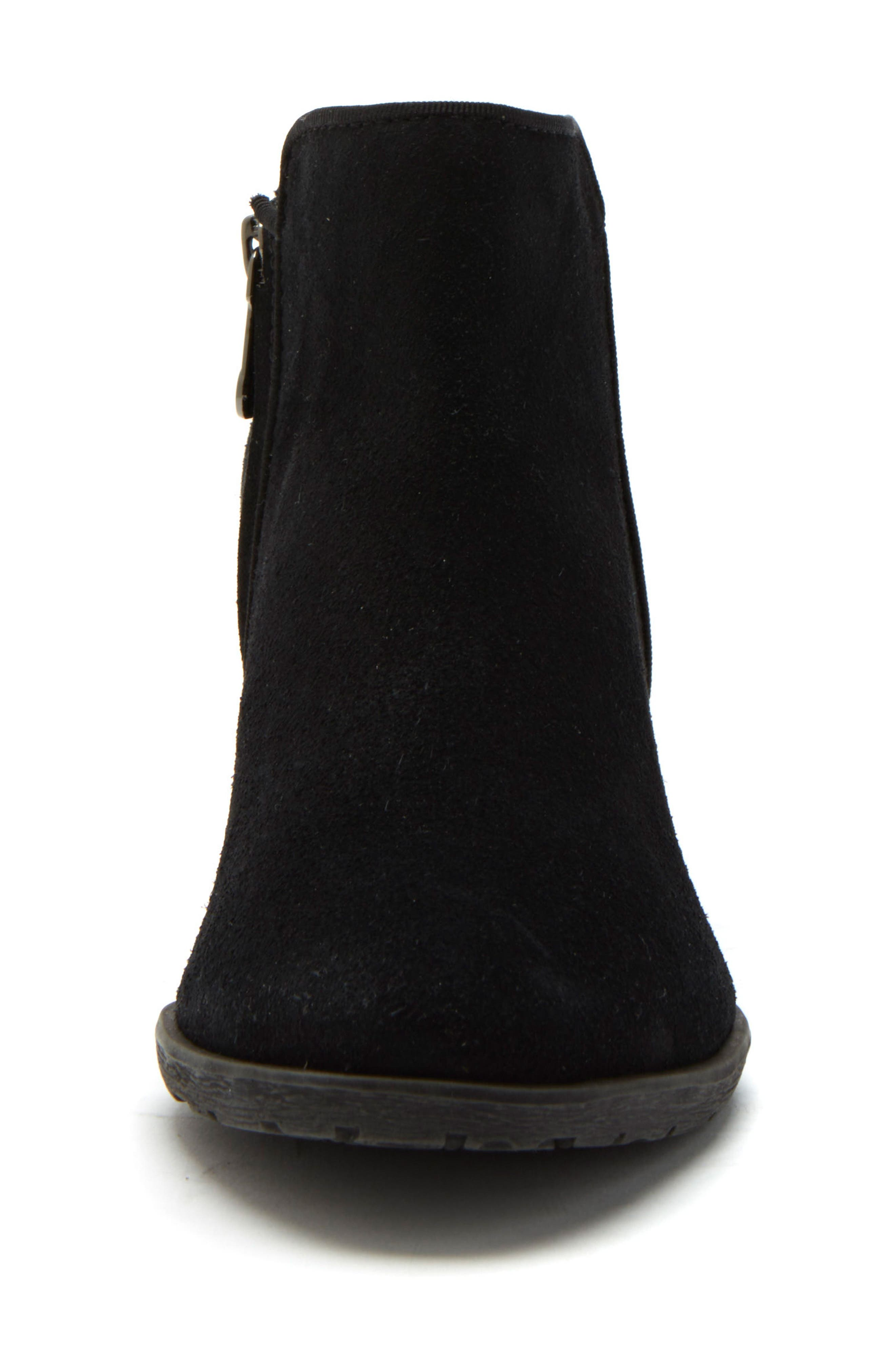 Villa Waterproof Boot,                             Alternate thumbnail 3, color,                             BLACK SUEDE