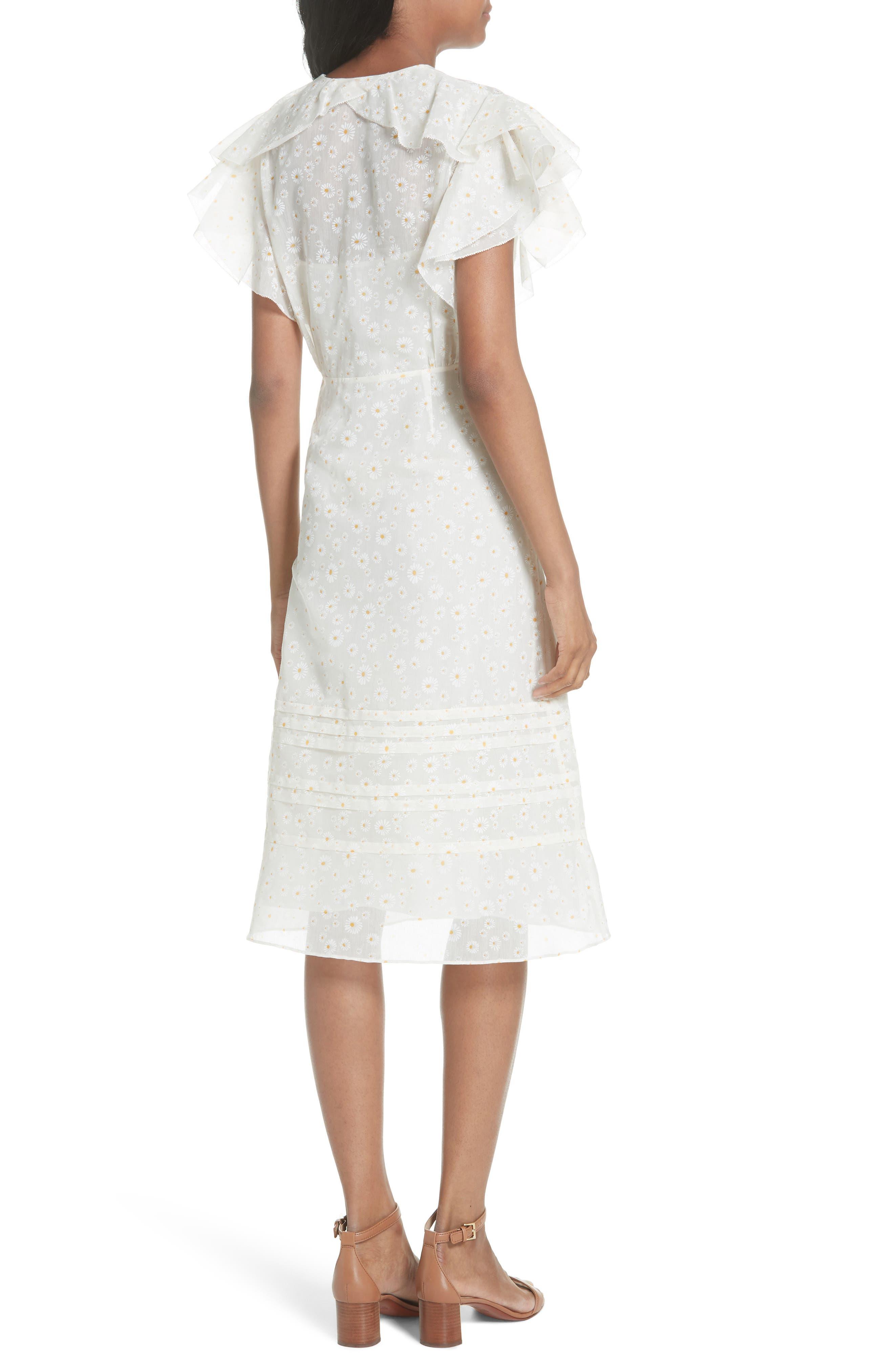 Susanna Flutter Sleeve Midi Dress,                             Alternate thumbnail 2, color,                             160