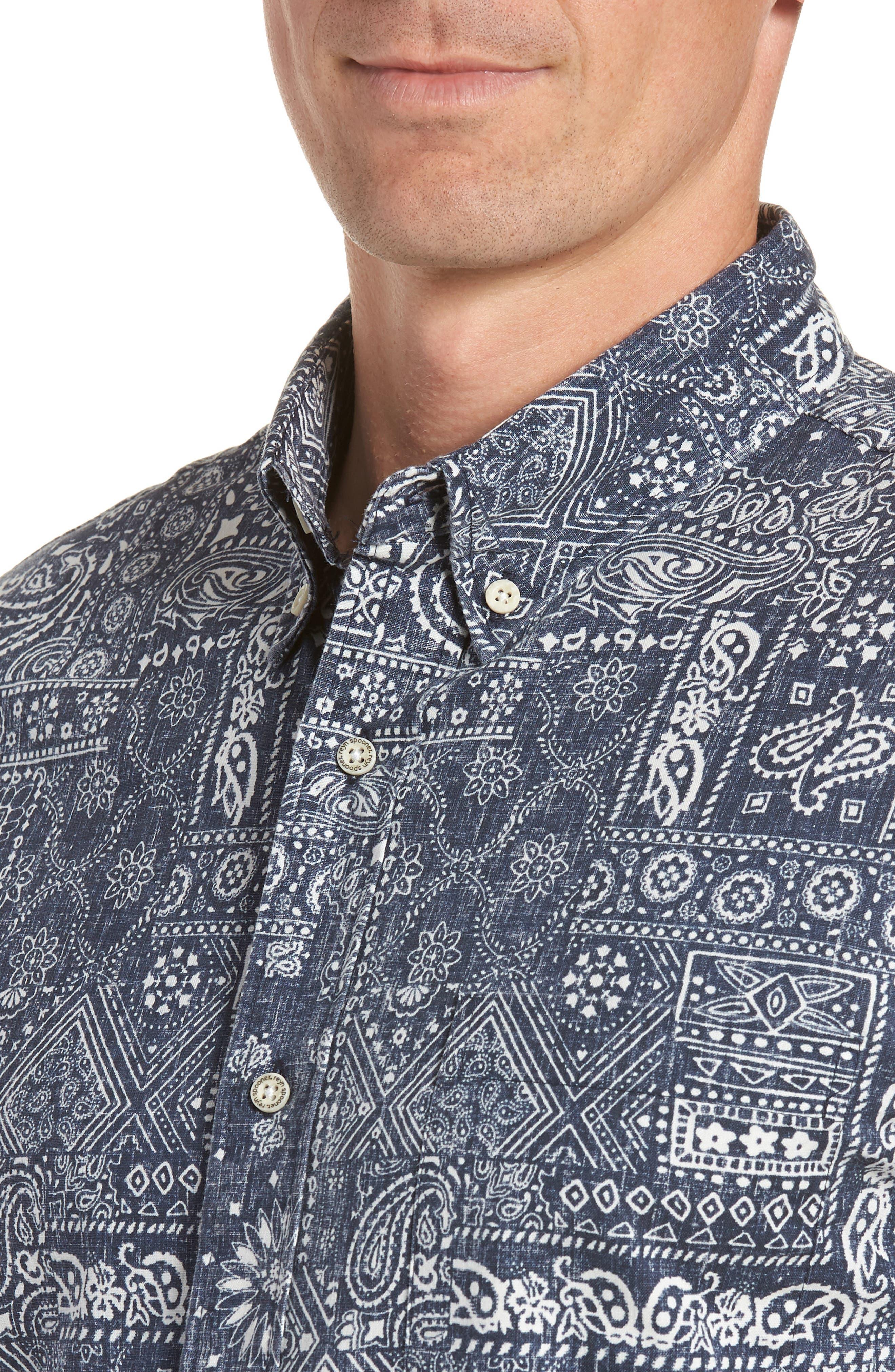 Aloha Bandana Regular Fit Sport Shirt,                             Alternate thumbnail 2, color,                             410