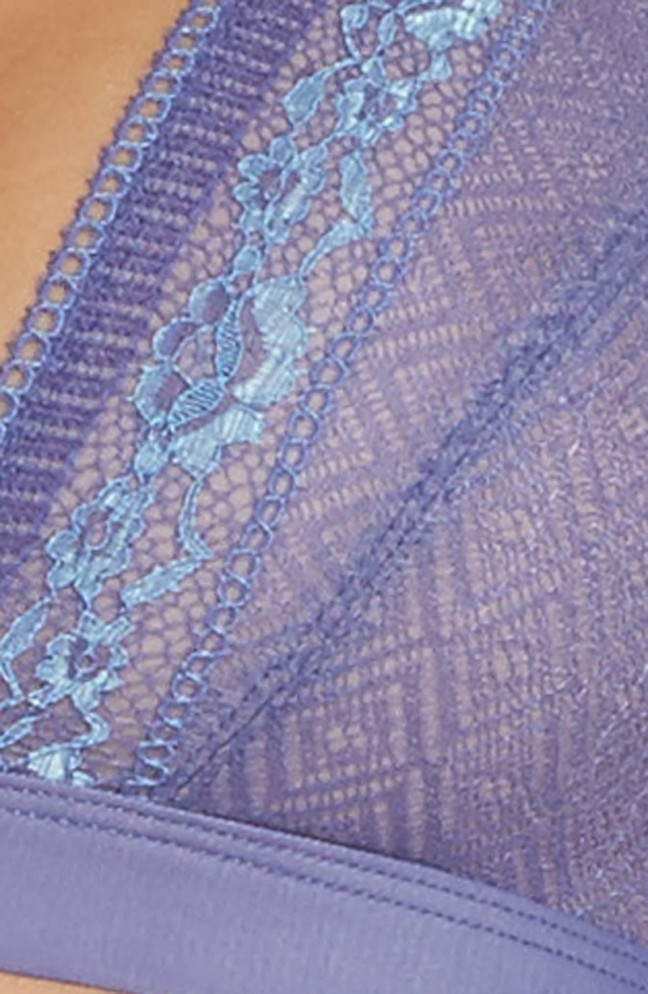 Lace Plunge Bralette,                             Alternate thumbnail 4, color,                             405