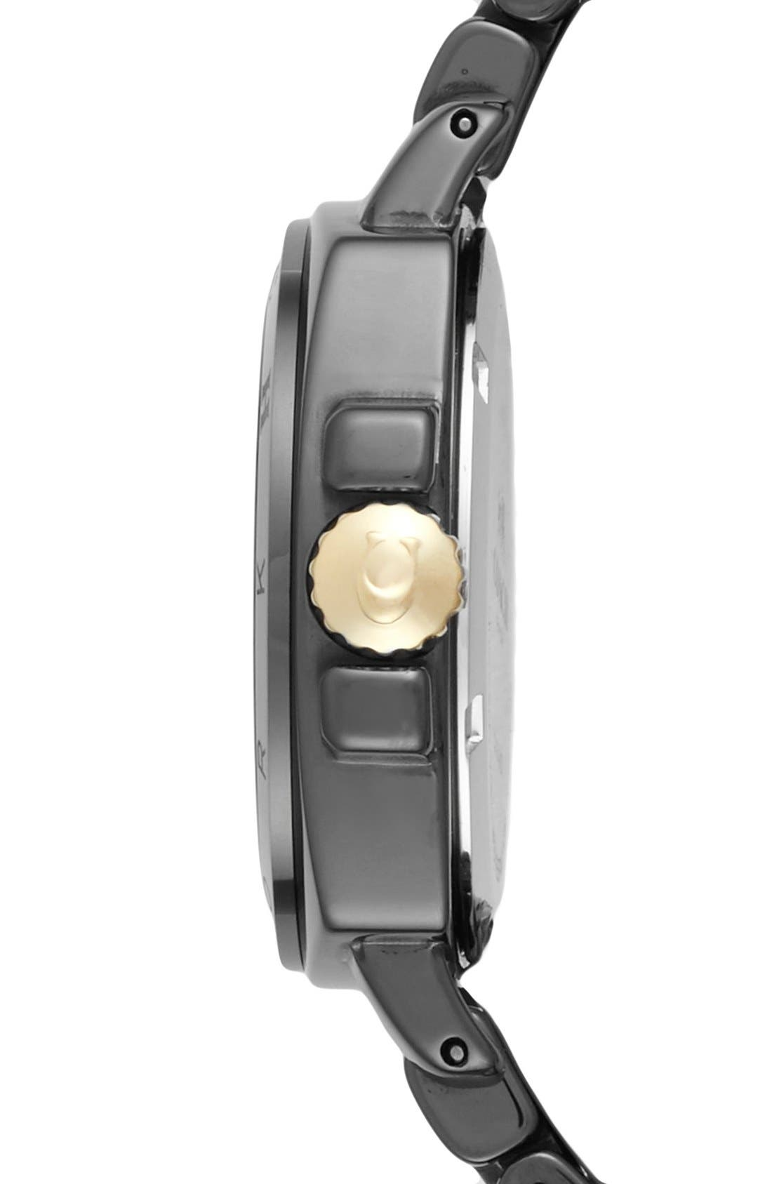 'Boyfriend' Ceramic Bracelet Watch, 34mm,                             Alternate thumbnail 2, color,                             001