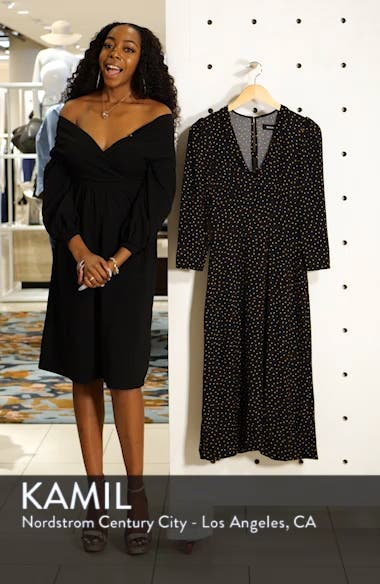 Mabel Plunge Midi Dress, sales video thumbnail