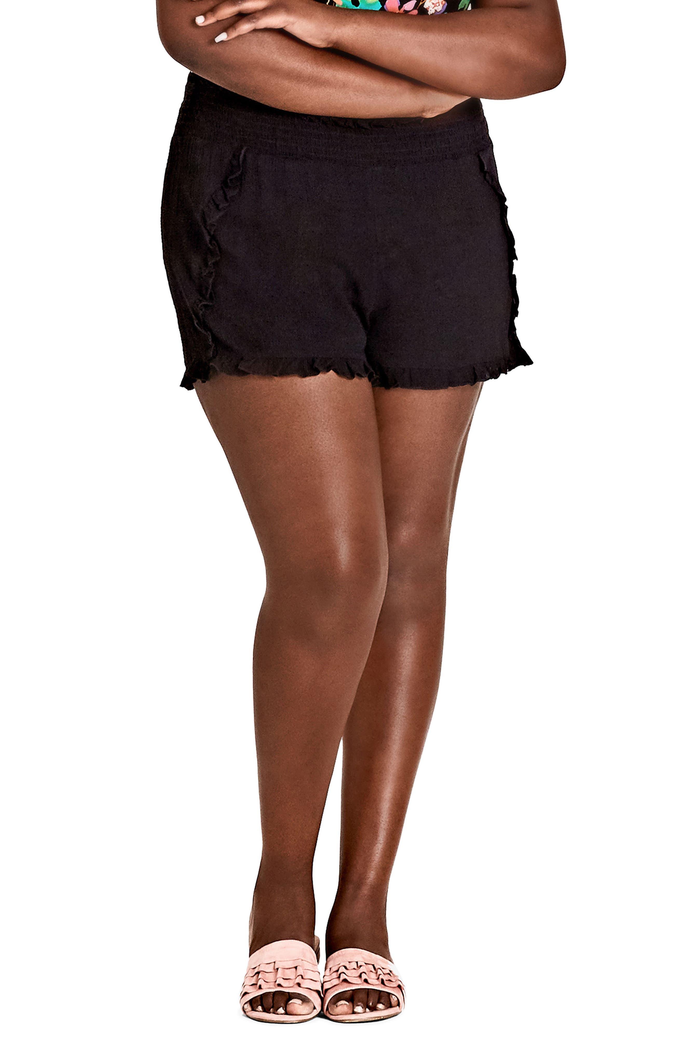 Island Holiday Shorts,                             Main thumbnail 1, color,                             BLACK