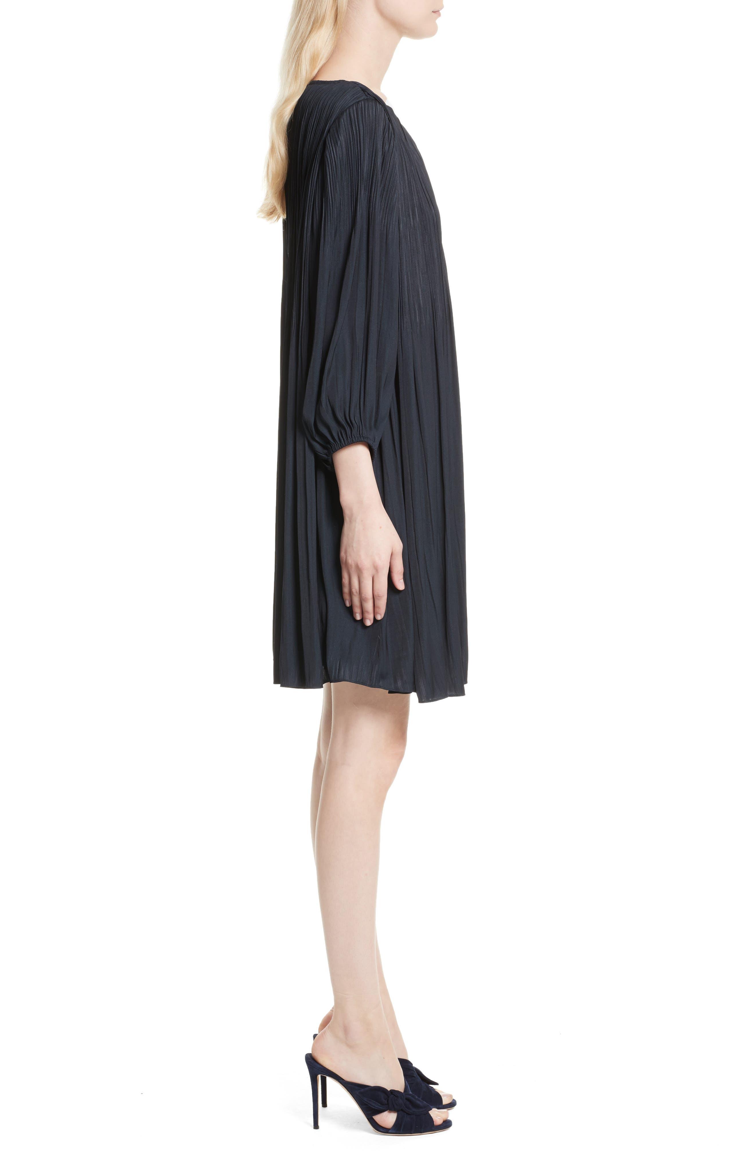 Florrie Pleated Shift Dress,                             Alternate thumbnail 3, color,                             410