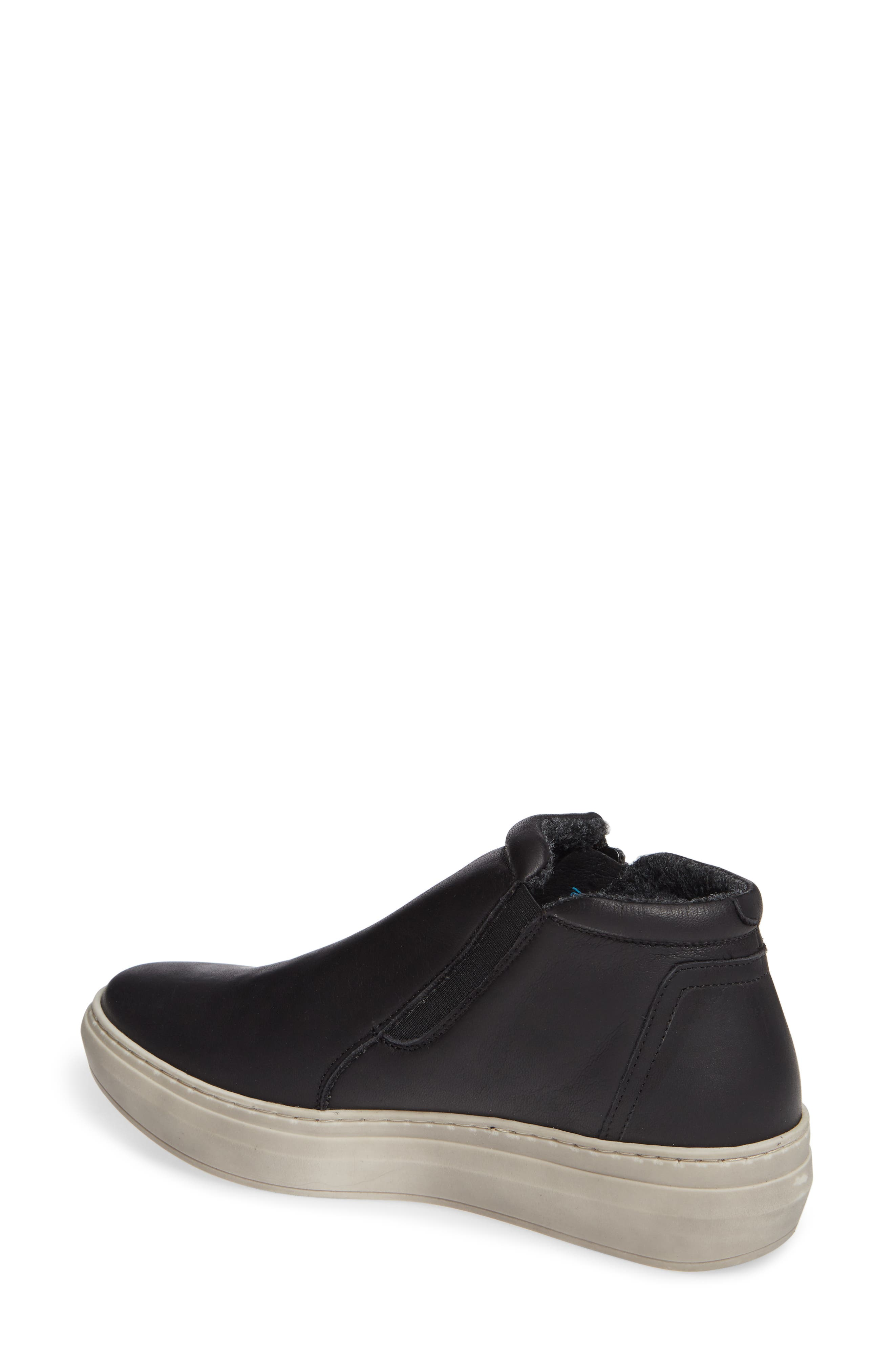 CLOUD,                             Qupid Wool Lined Sneaker,                             Alternate thumbnail 2, color,                             BLACK LEATHER