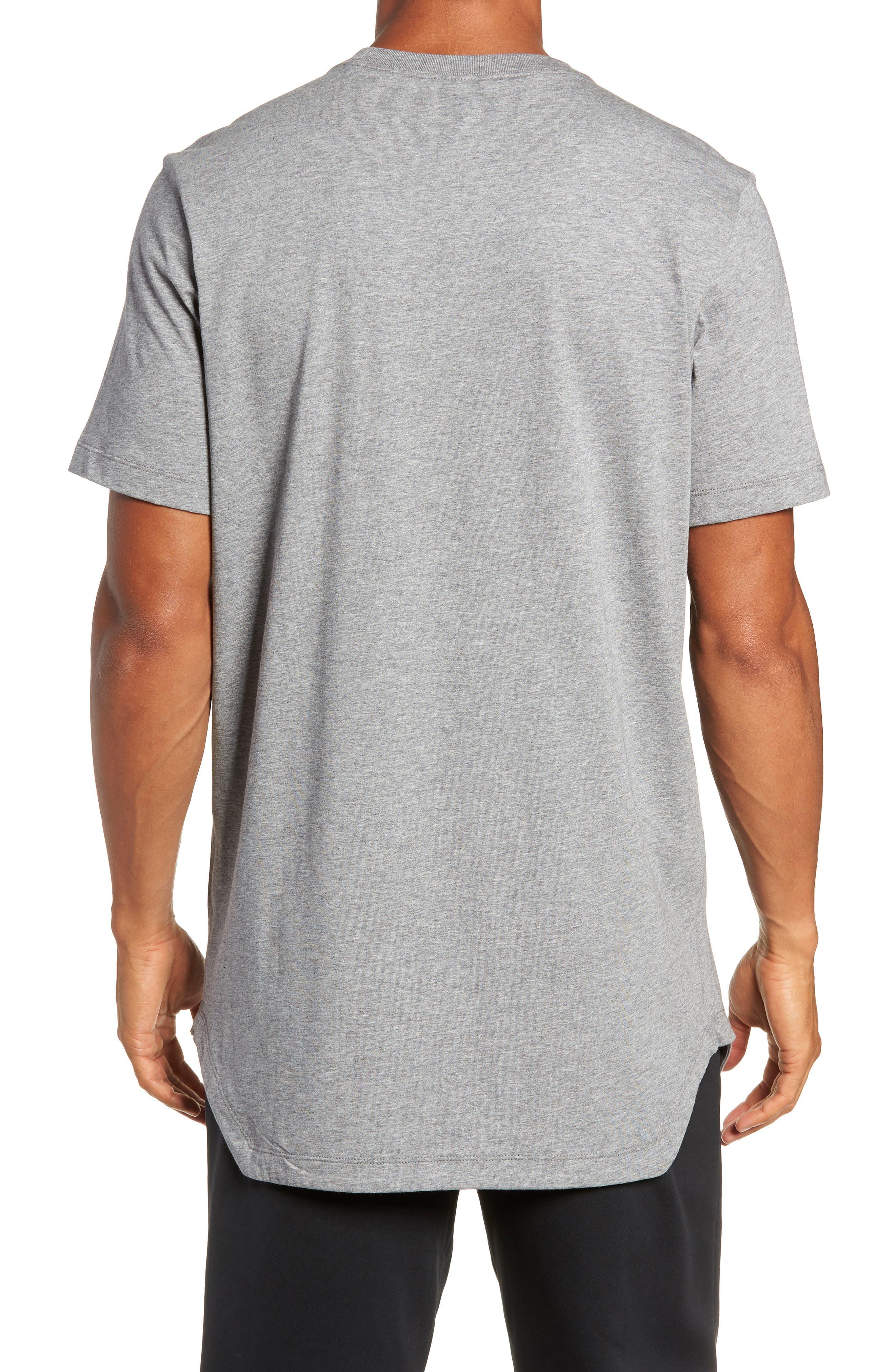 Longline T-Shirt,                             Alternate thumbnail 2, color,                             GREY
