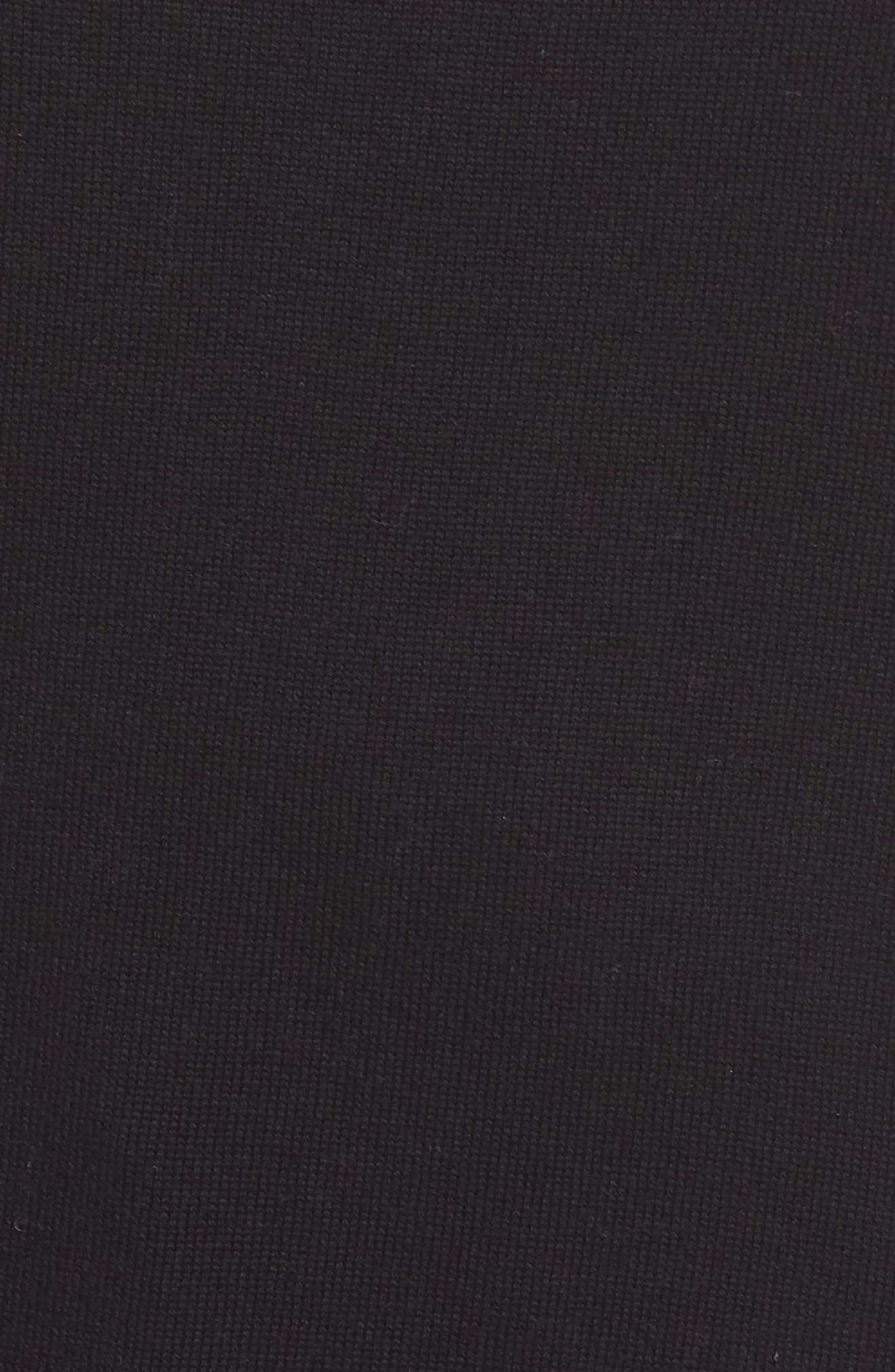 CASLON<SUP>®</SUP>,                             Roll Sleeve Tunic Sweater,                             Alternate thumbnail 5, color,                             BLACK