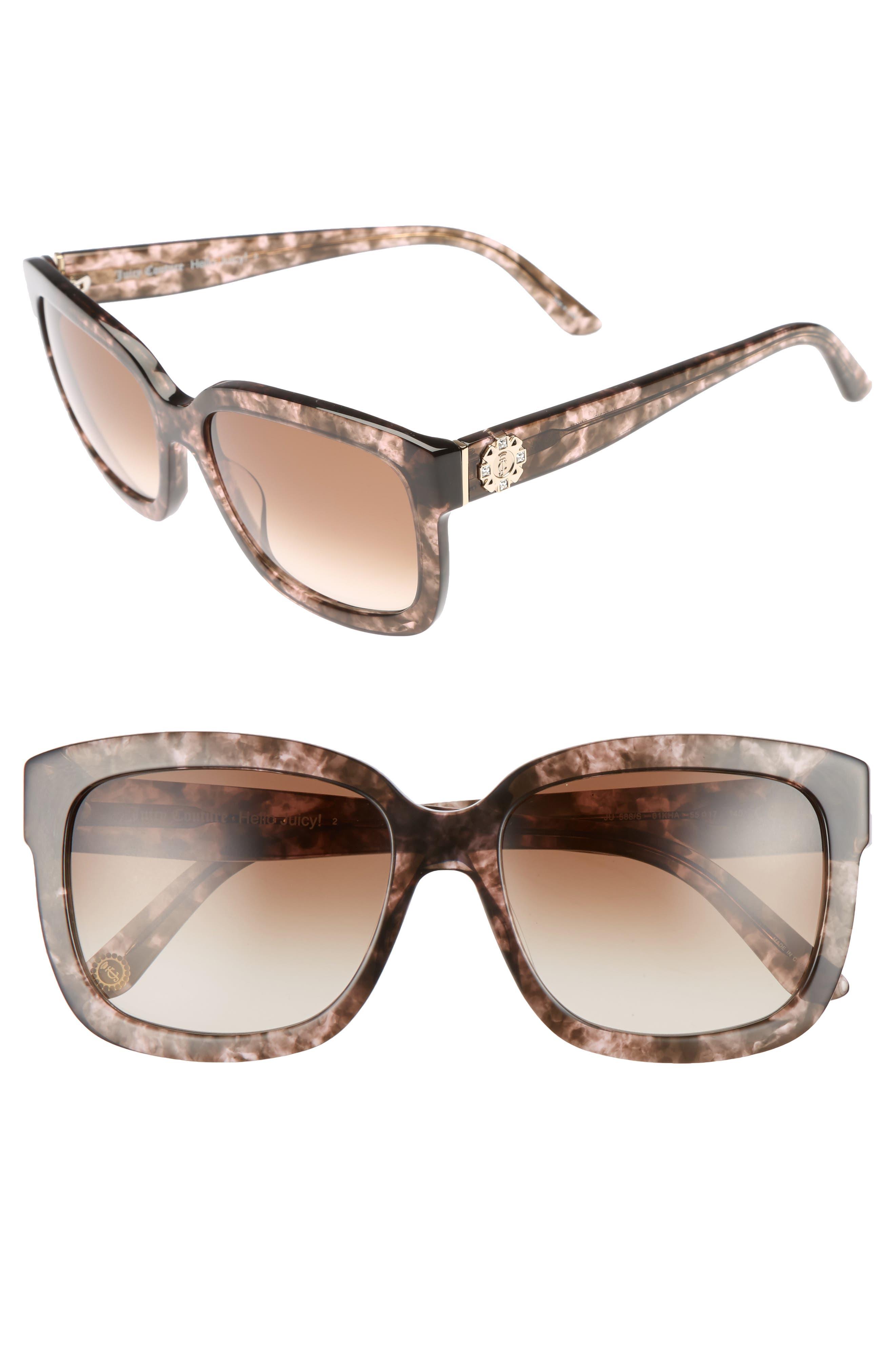 Black Label 55mm Square Sunglasses,                             Main thumbnail 1, color,                             210