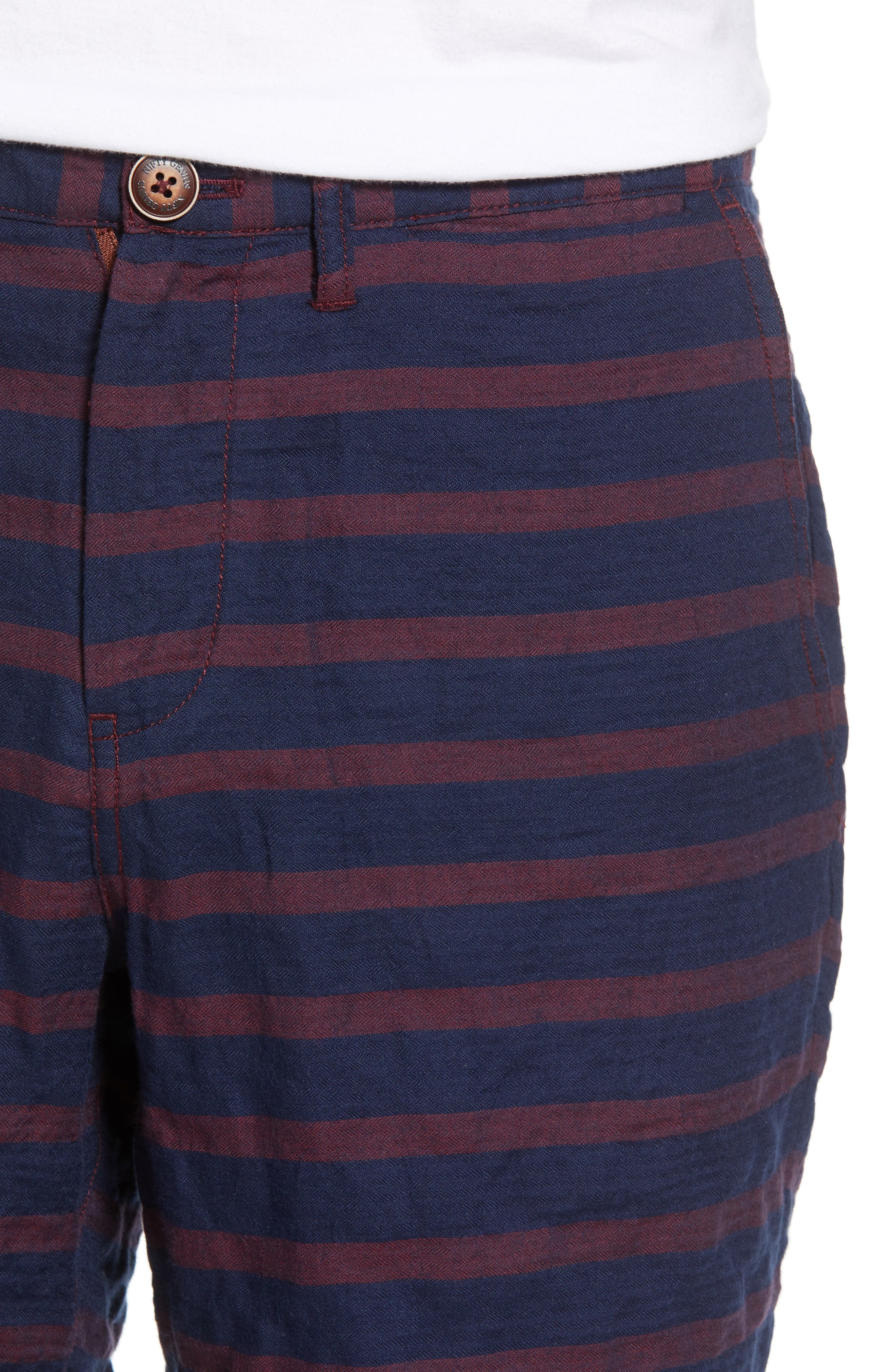 Morgan Stripe Bermuda Shorts,                             Alternate thumbnail 4, color,                             601