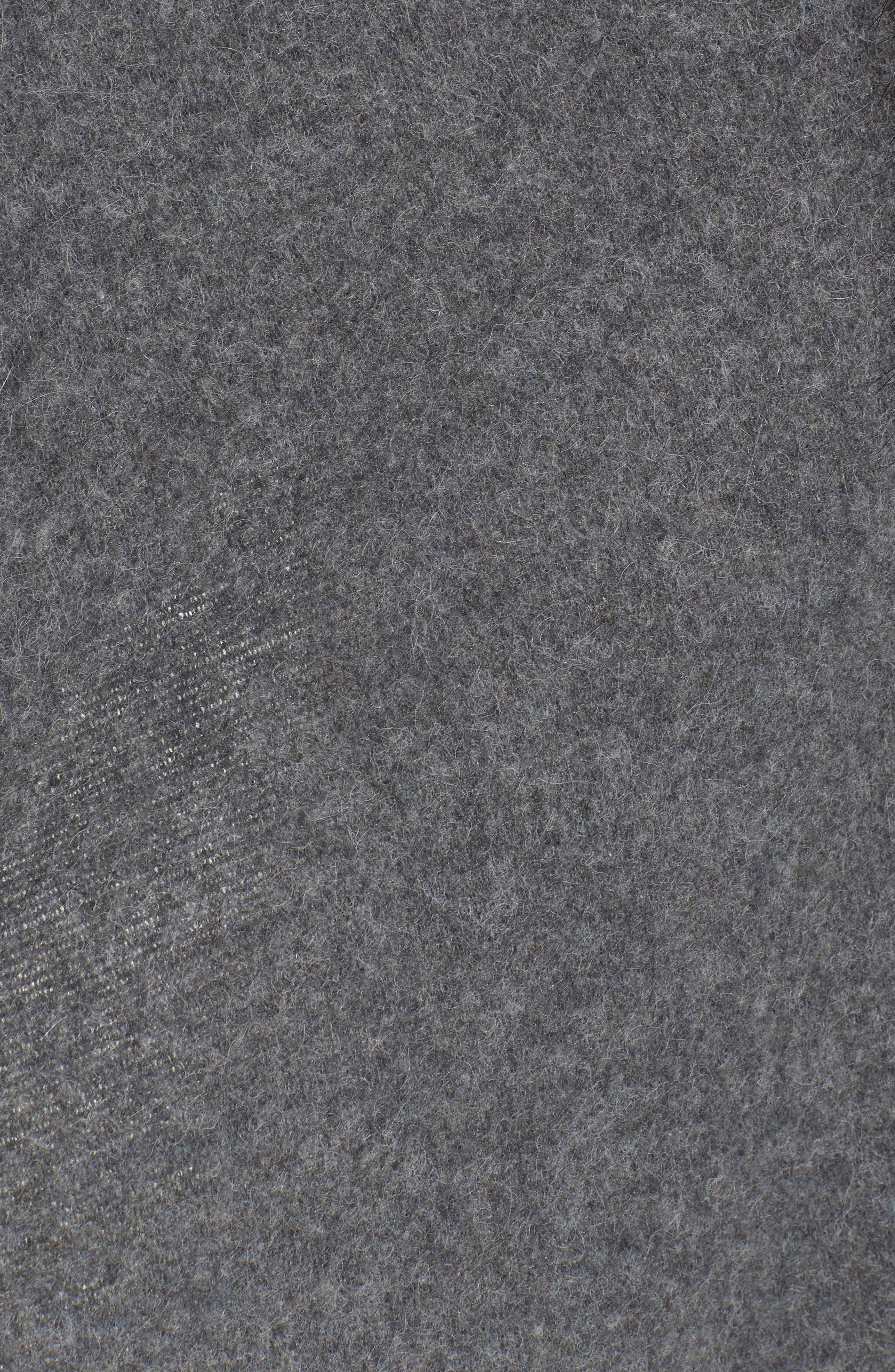 Knit Poncho with Faux Fur Trim,                             Alternate thumbnail 5, color,                             030