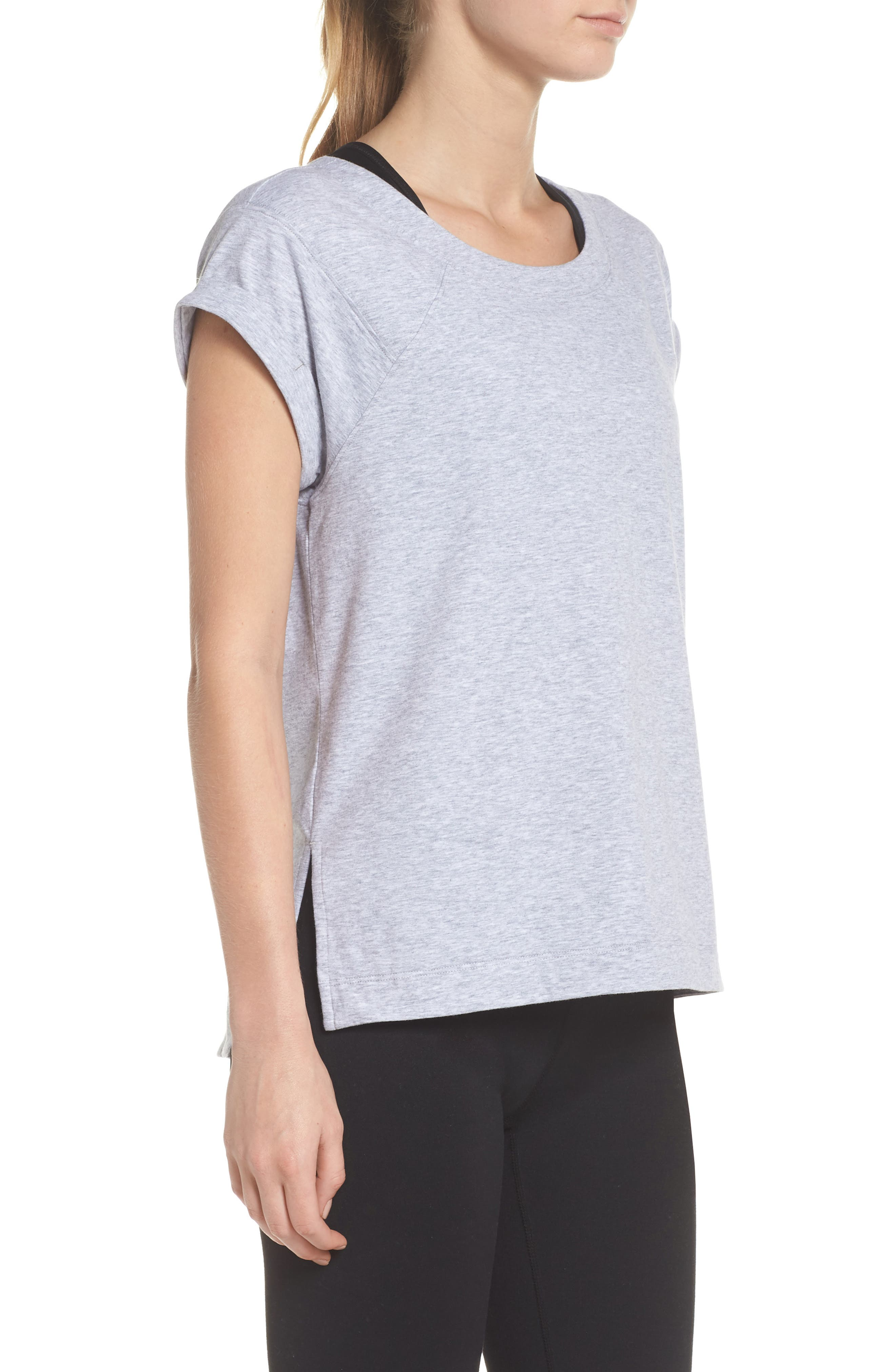Karly Tee,                             Alternate thumbnail 3, color,                             GREY QUIET HEATHER