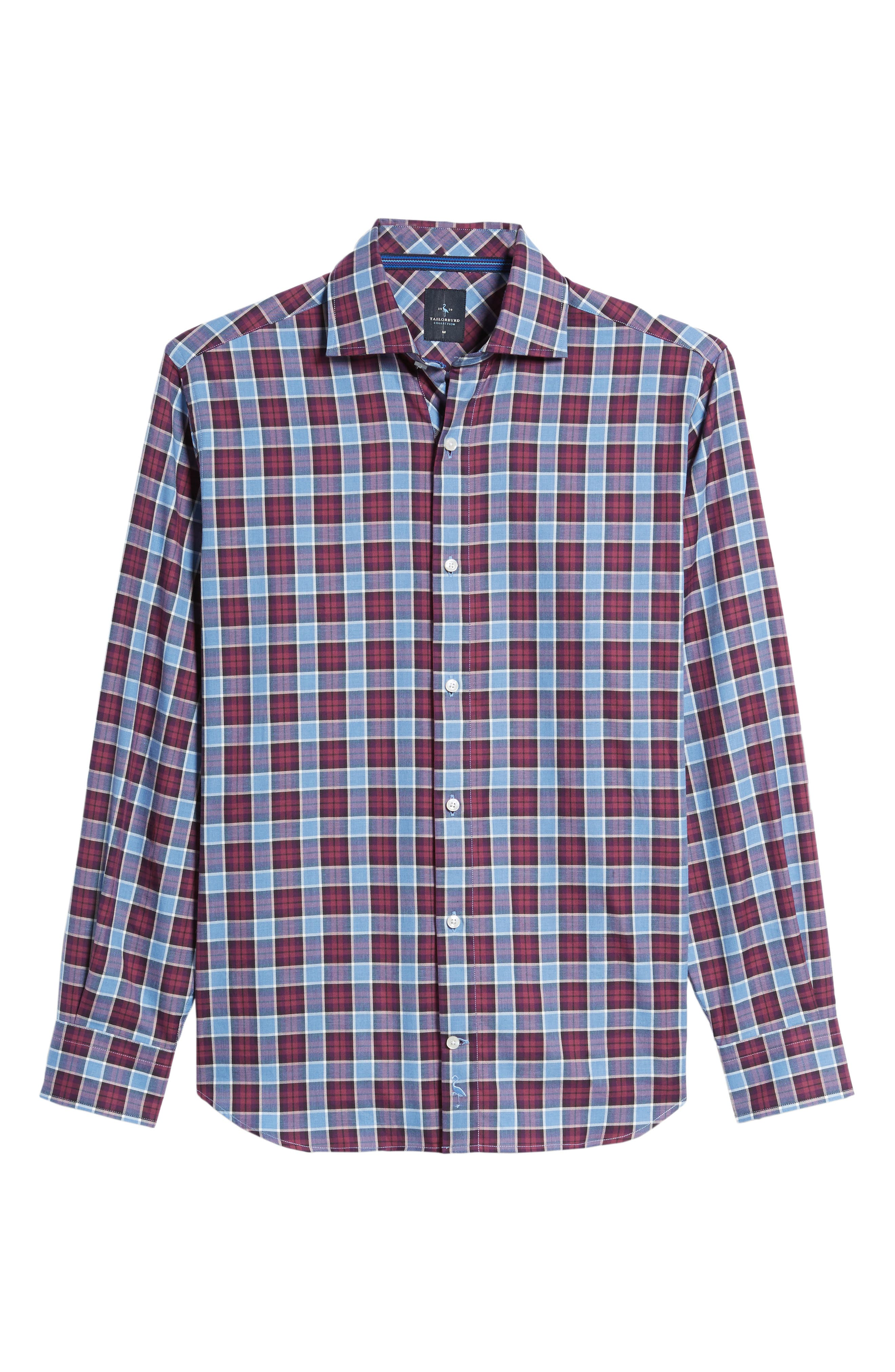 Chareton Check Twill Sport Shirt,                             Alternate thumbnail 6, color,                             400