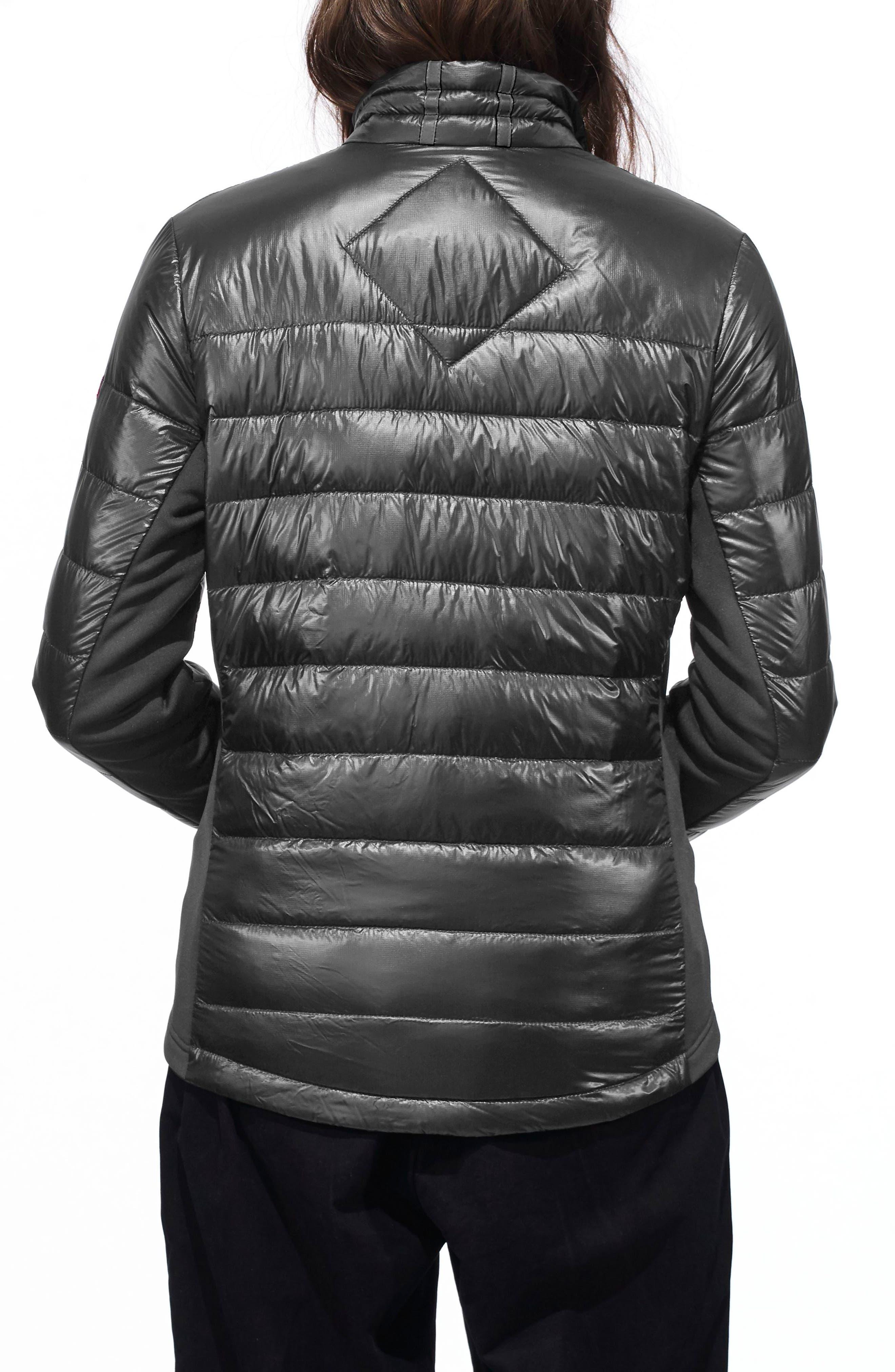 'Hybridge Lite' Slim Fit Mixed Media Down Jacket,                             Alternate thumbnail 2, color,                             S GRAPHITE/ L BLACK