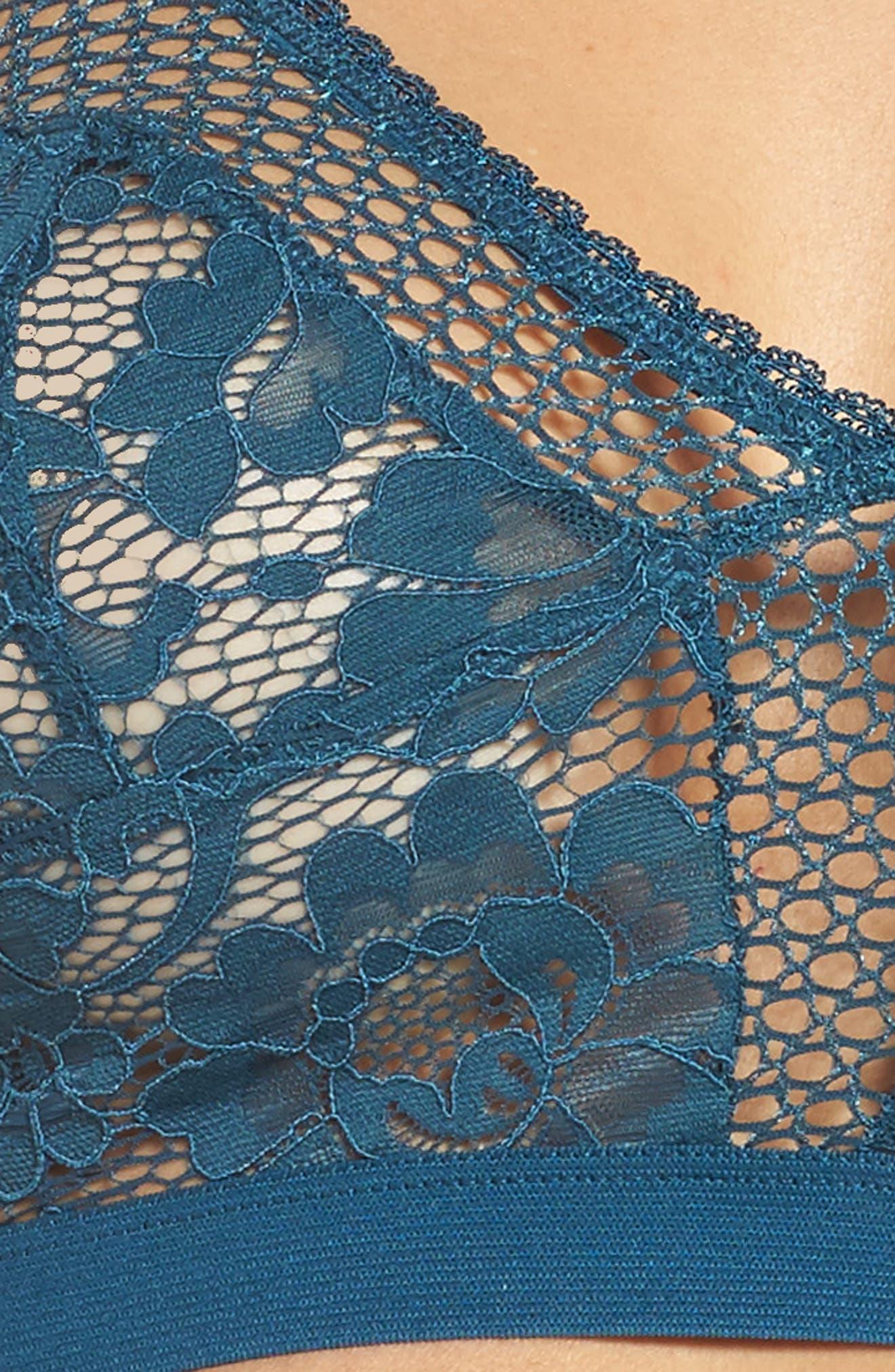 Petunia Longline Bralette,                             Alternate thumbnail 4, color,                             440