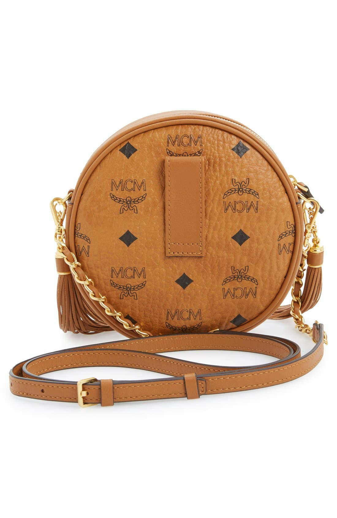 'Rabbit Tambourine Small' Round Crossbody Bag,                             Alternate thumbnail 3, color,                             200