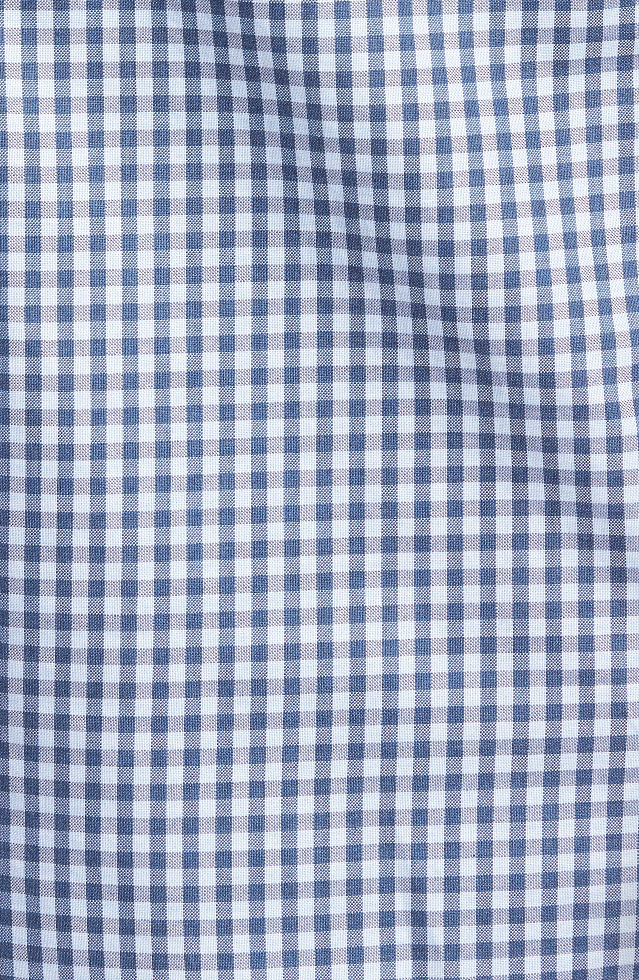 Tailored Fit Gingham Sport Shirt,                             Alternate thumbnail 5, color,                             400