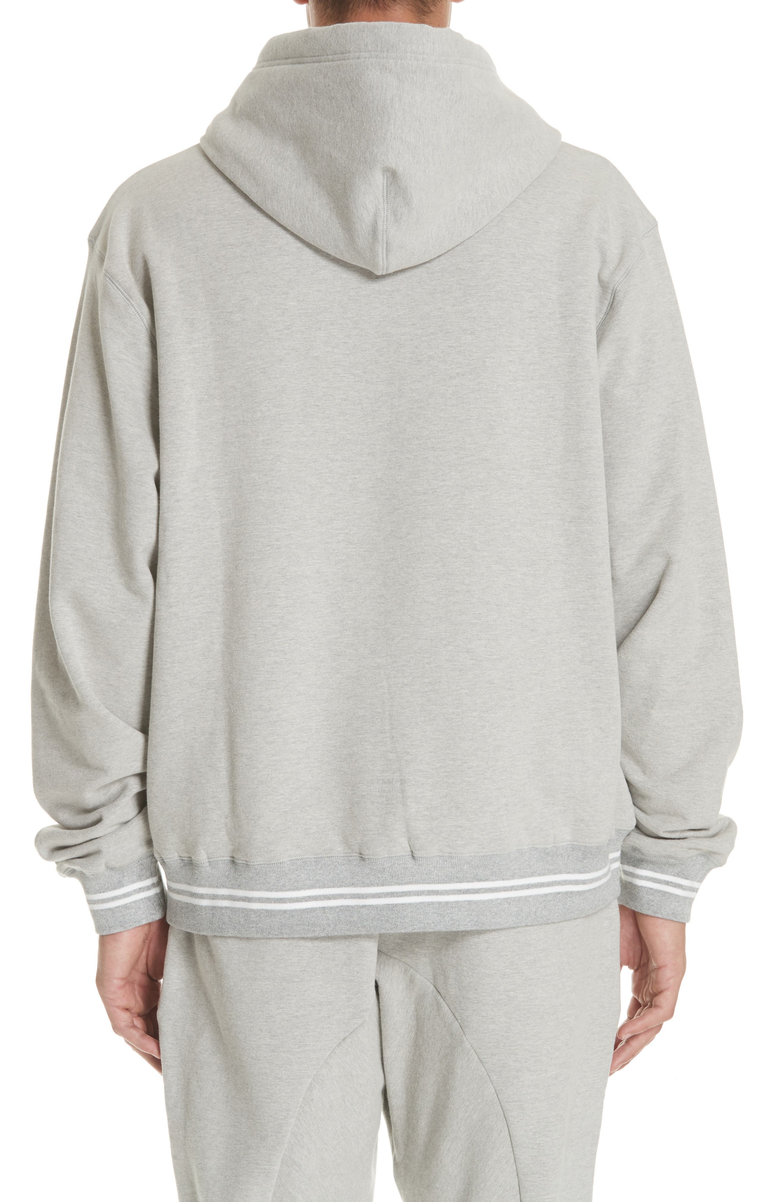 Oversize Hoodie,                             Alternate thumbnail 2, color,                             HEATHER GREY