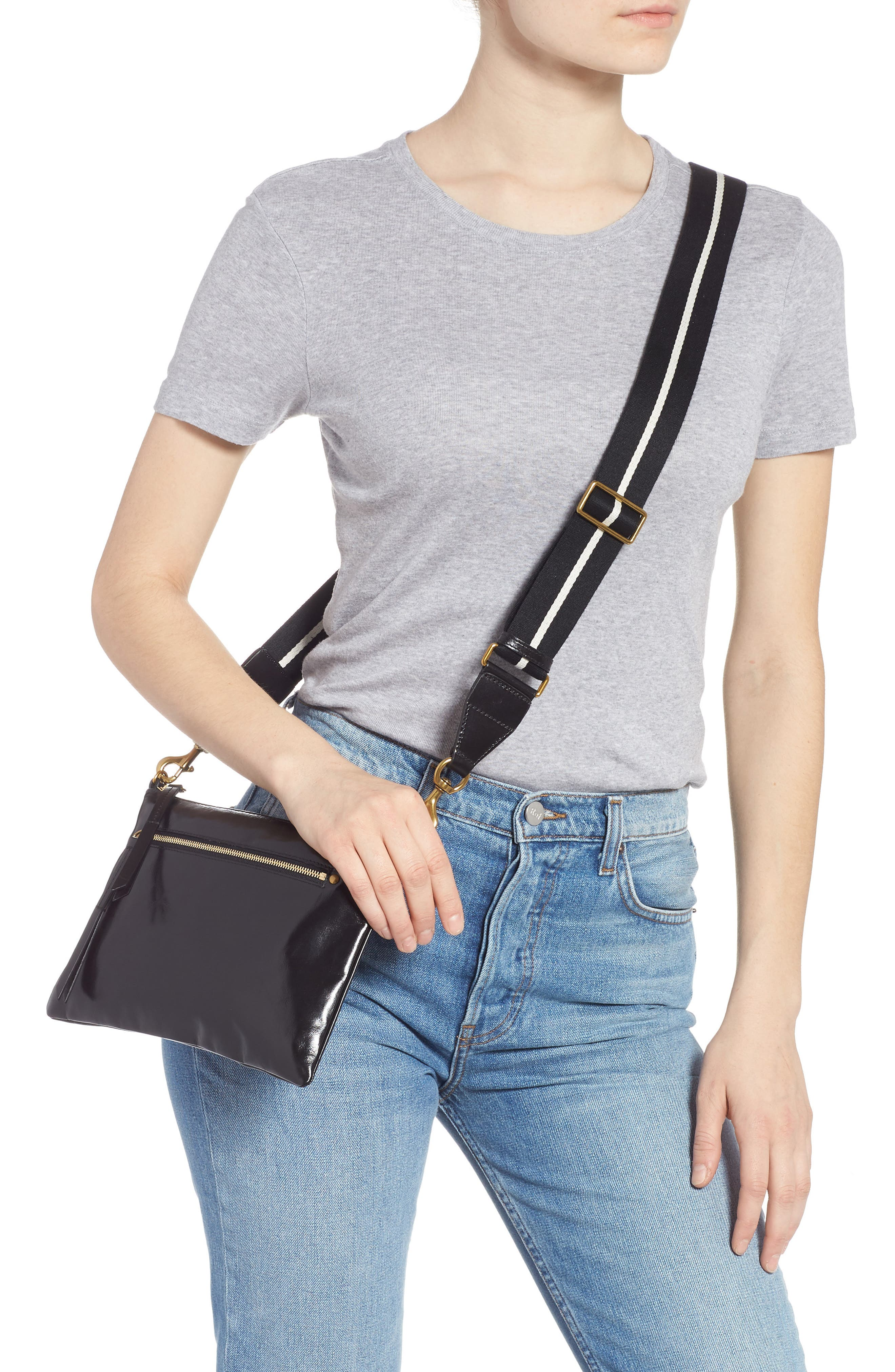 Nessah Leather Crossbody Bag,                             Alternate thumbnail 2, color,                             BLACK