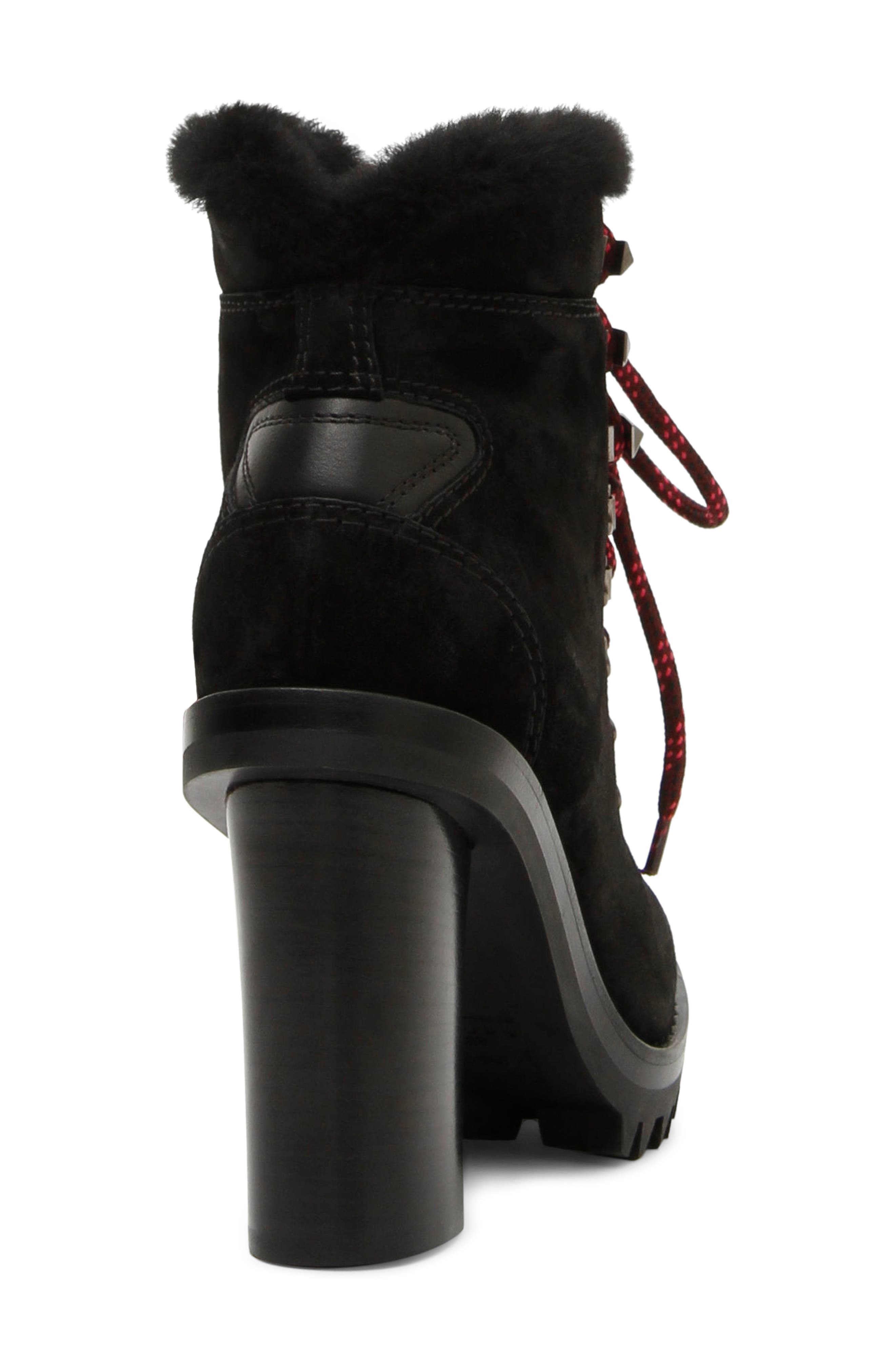 VALENTINO GARAVANI,                             Trekking Ankle Bootie with Genuine Shearling Trim,                             Alternate thumbnail 2, color,                             001