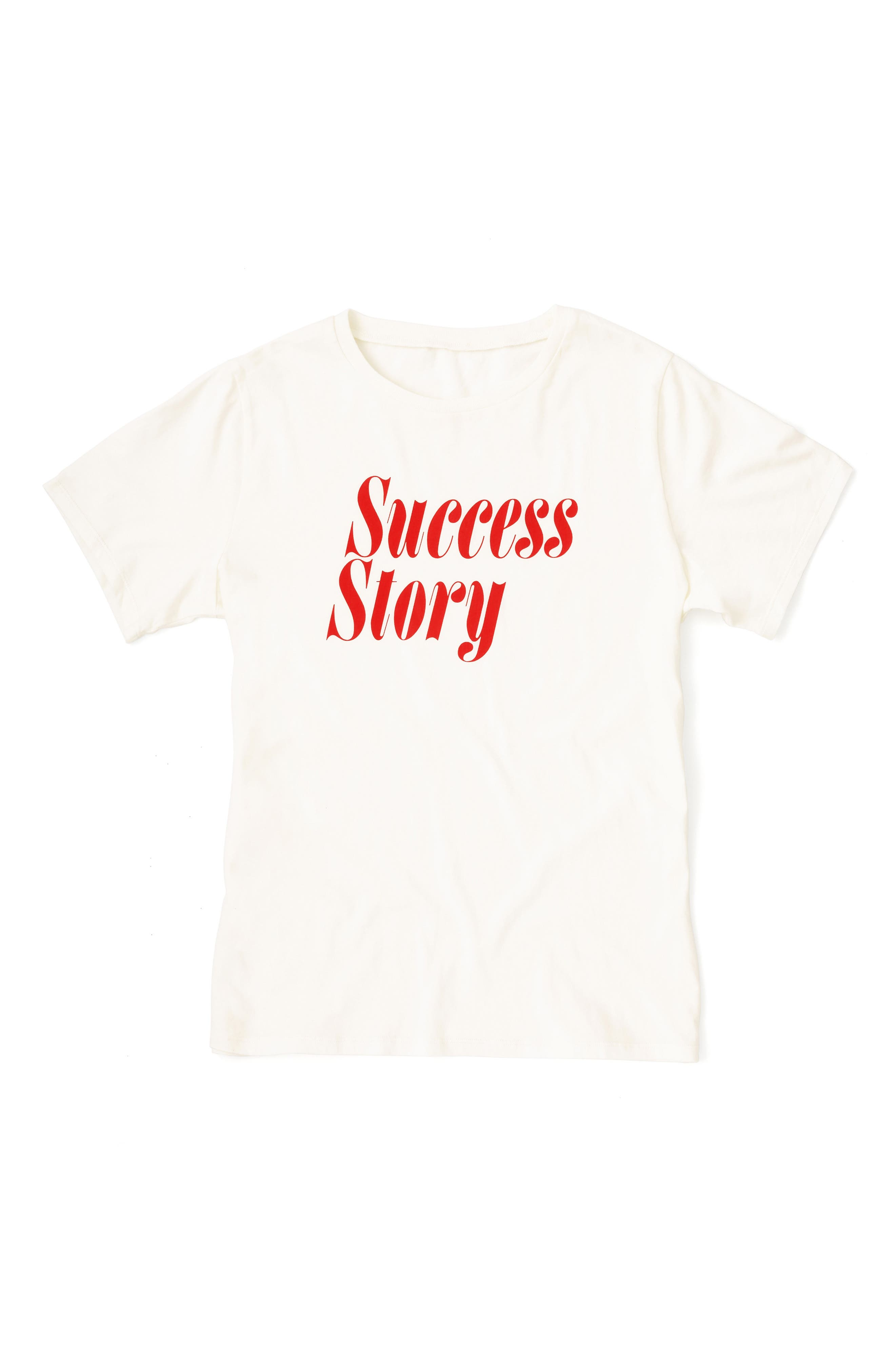 Success Story Classic Tee,                             Alternate thumbnail 2, color,                             IVORY