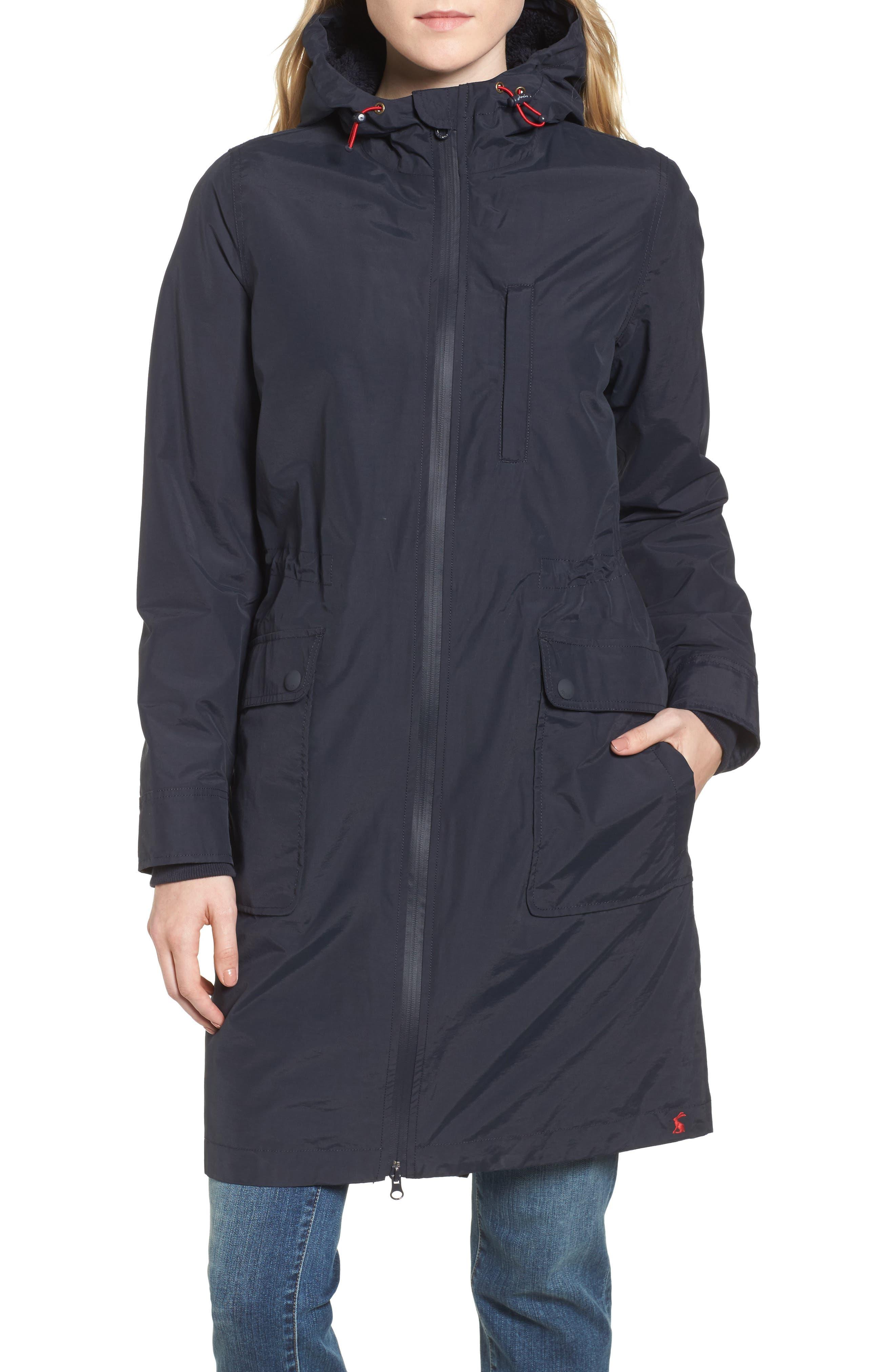 Hooded Fleece Lined Raincoat,                             Alternate thumbnail 4, color,