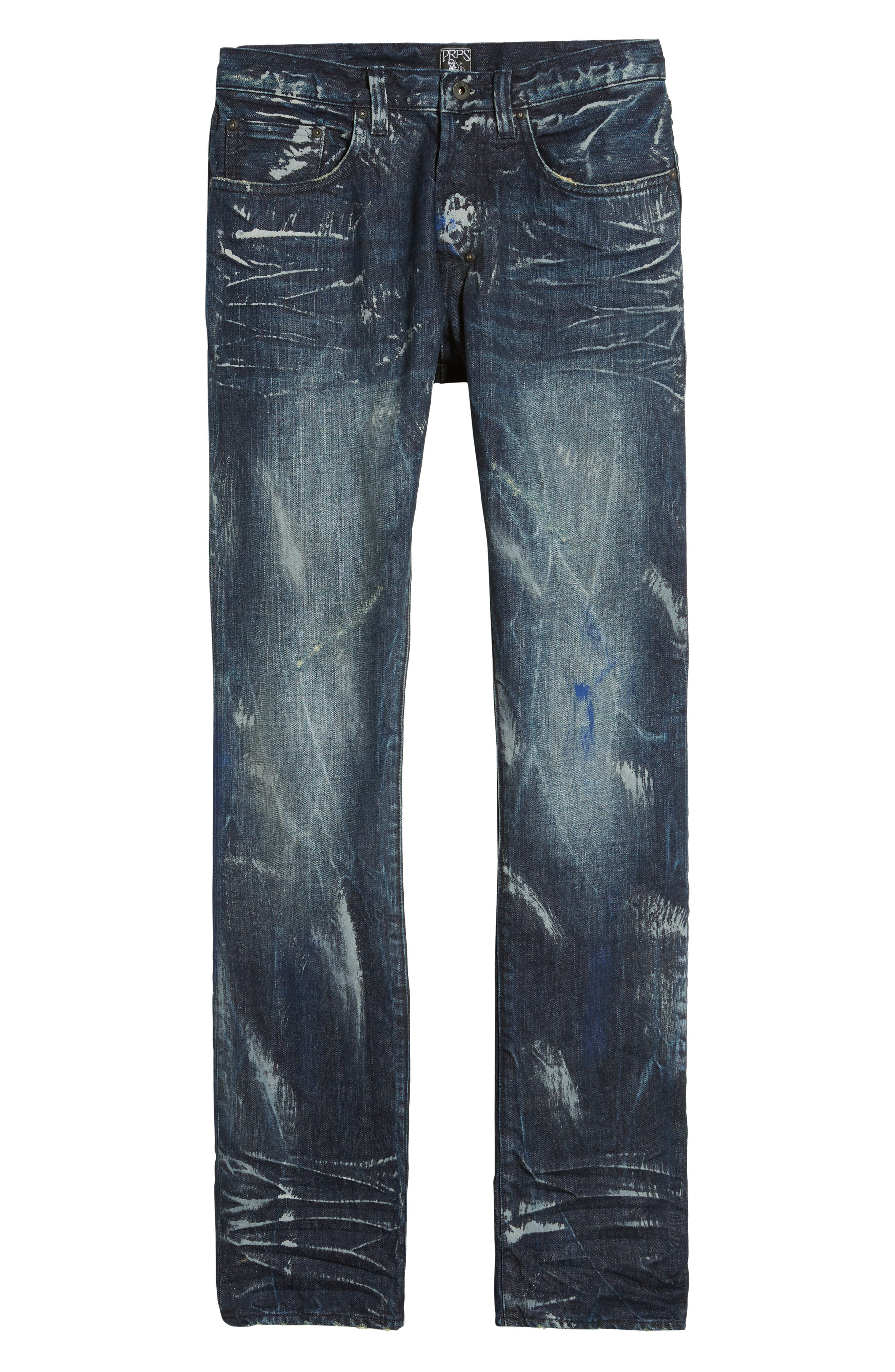 Slim Straight Leg Jeans,                             Alternate thumbnail 6, color,                             490