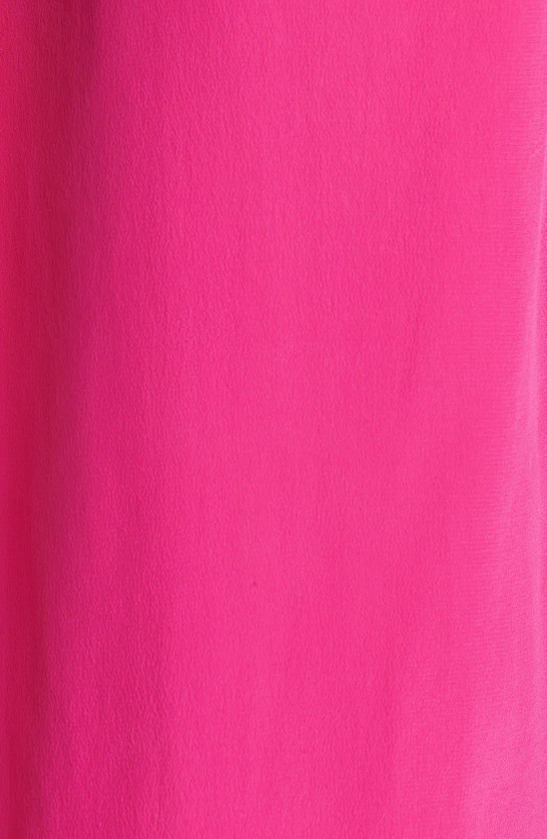 'Slim Signature' Sleeveless Silk Shirt,                             Alternate thumbnail 174, color,