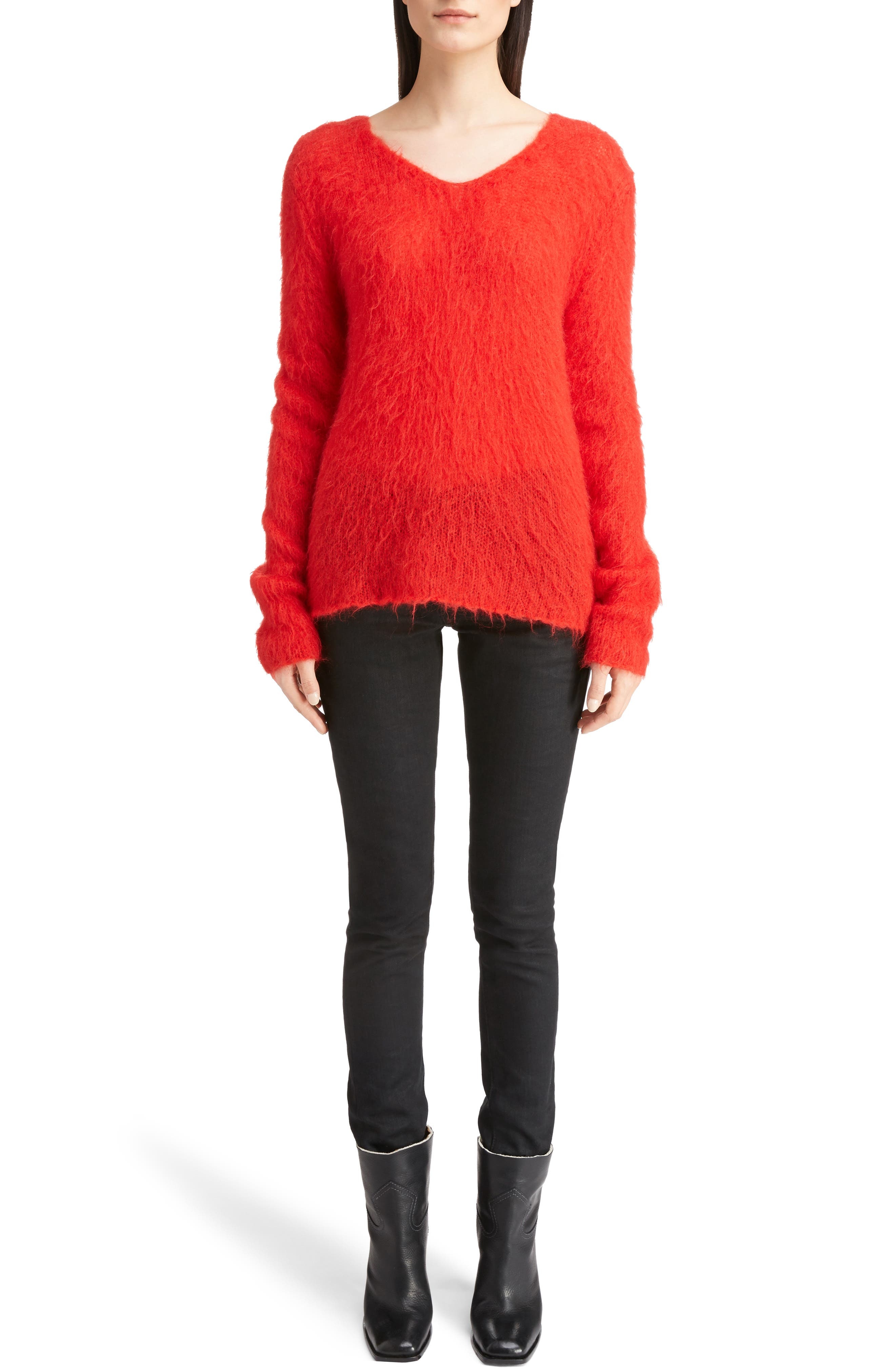 Mohair Blend Sweater,                             Alternate thumbnail 6, color,