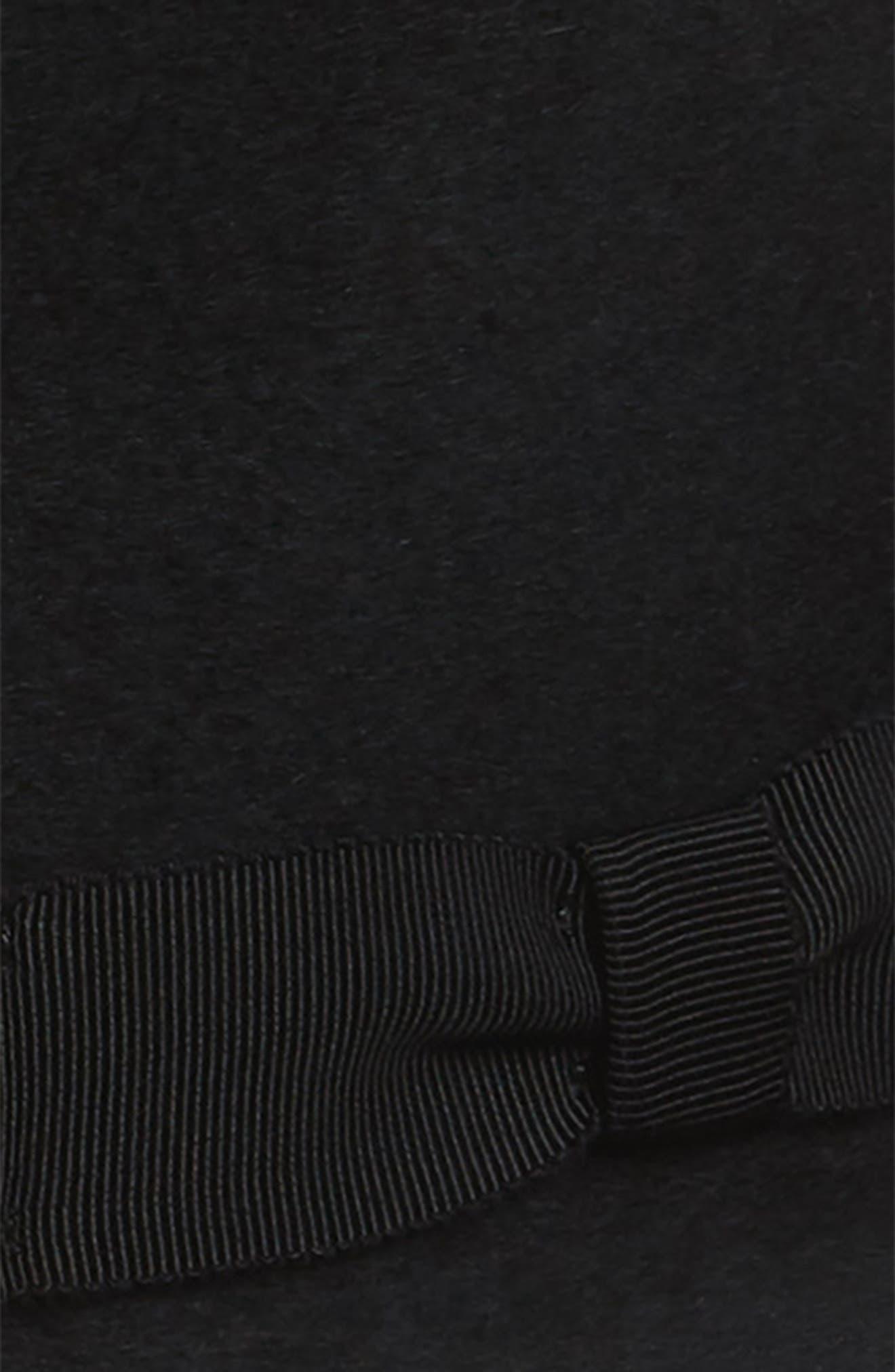 Criss Wool Fedora,                             Alternate thumbnail 2, color,                             BLACK