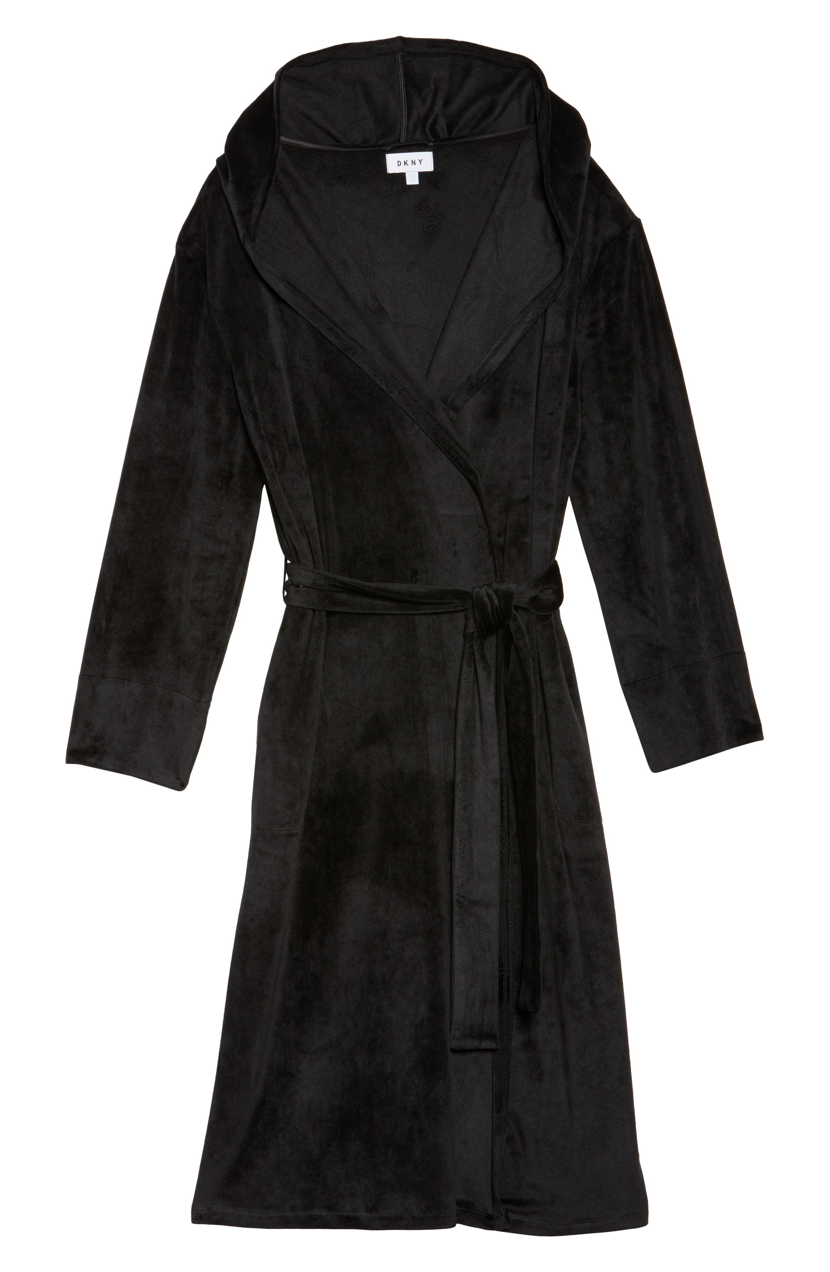 Luxury Plush Hooded Robe,                             Alternate thumbnail 6, color,                             001