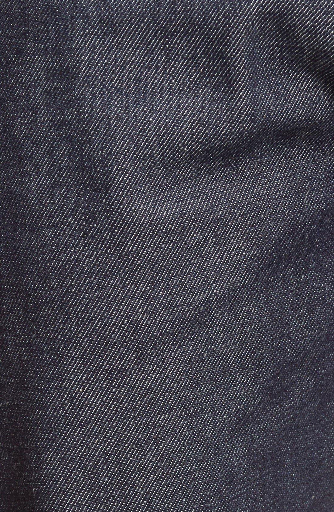 Super Skinny Guy Skinny Fit Selvedge Jeans,                             Alternate thumbnail 5, color,                             INDIGO