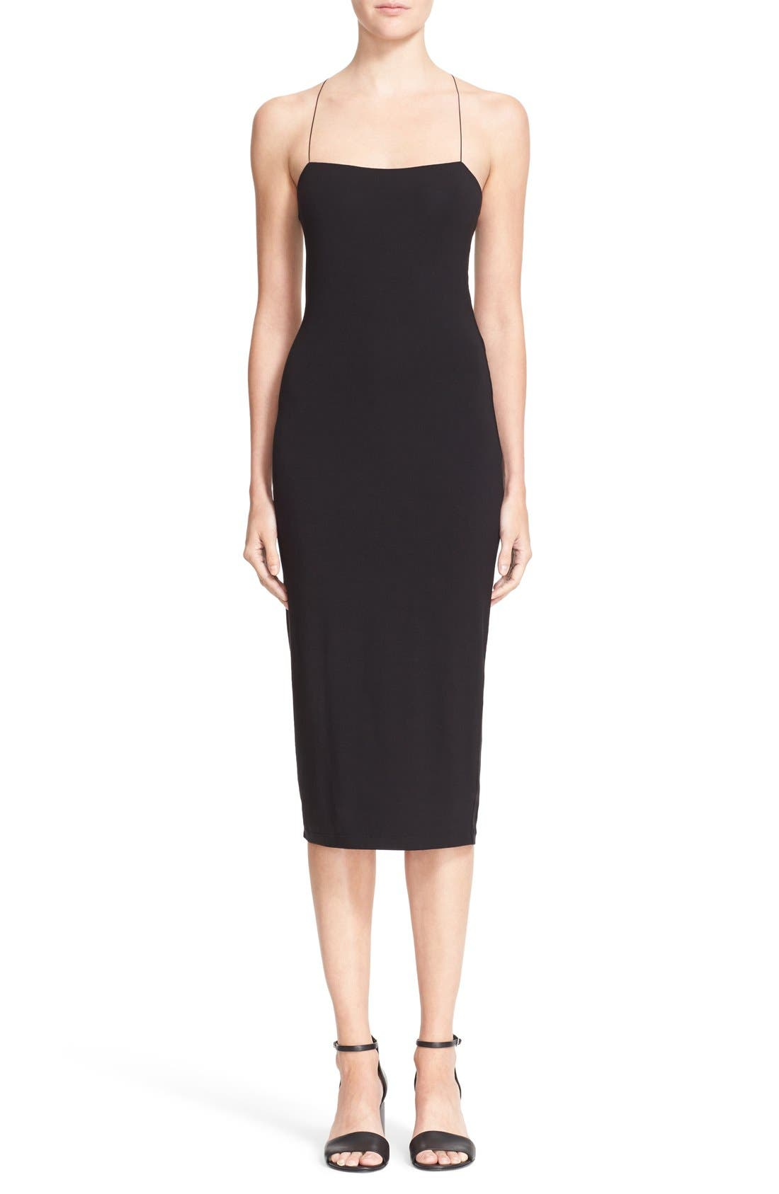 T by Alexander Wang Strappy Tank Dress, Main, color, 001