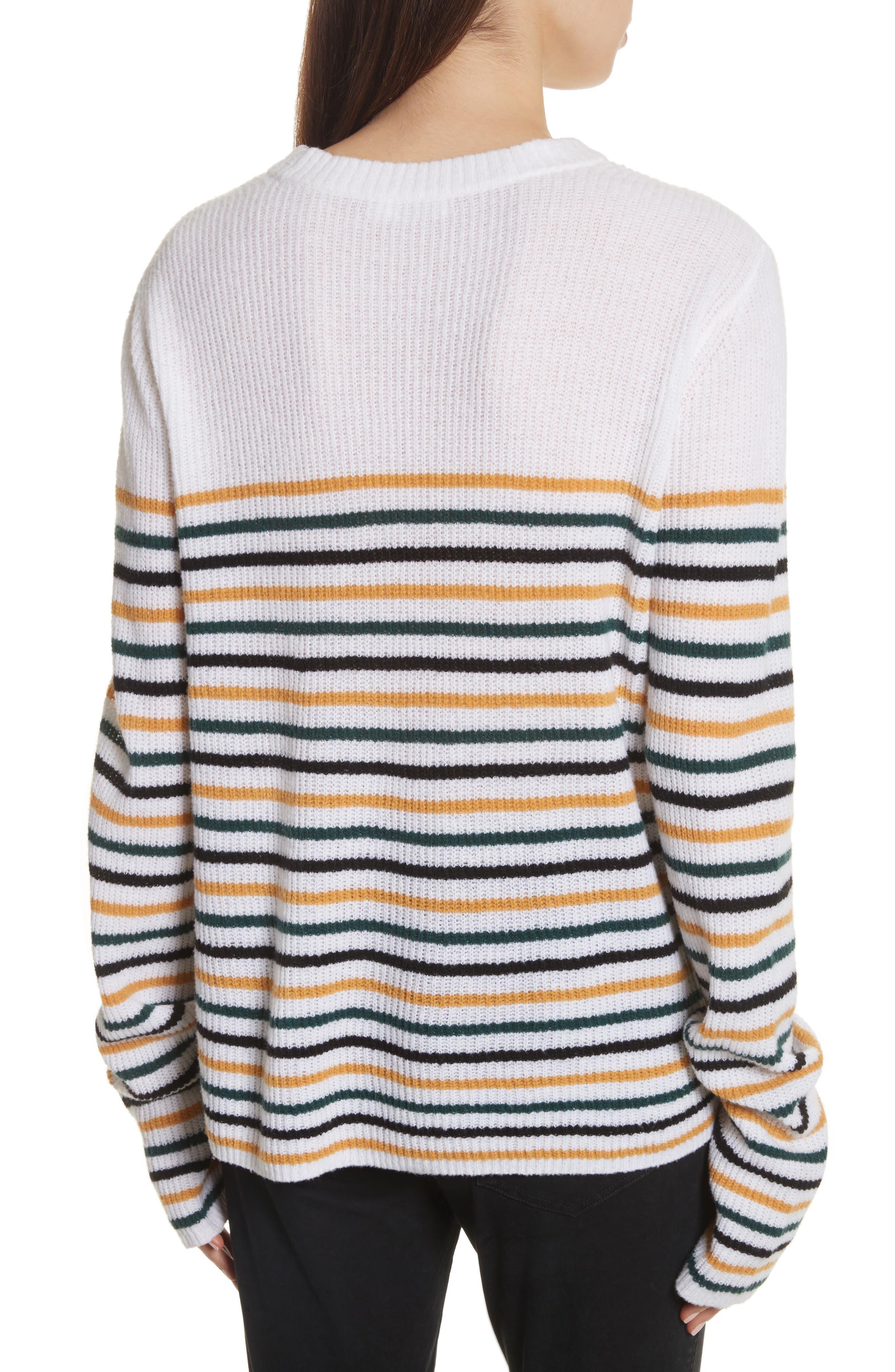 Meryl Stripe Sweater,                             Alternate thumbnail 4, color,
