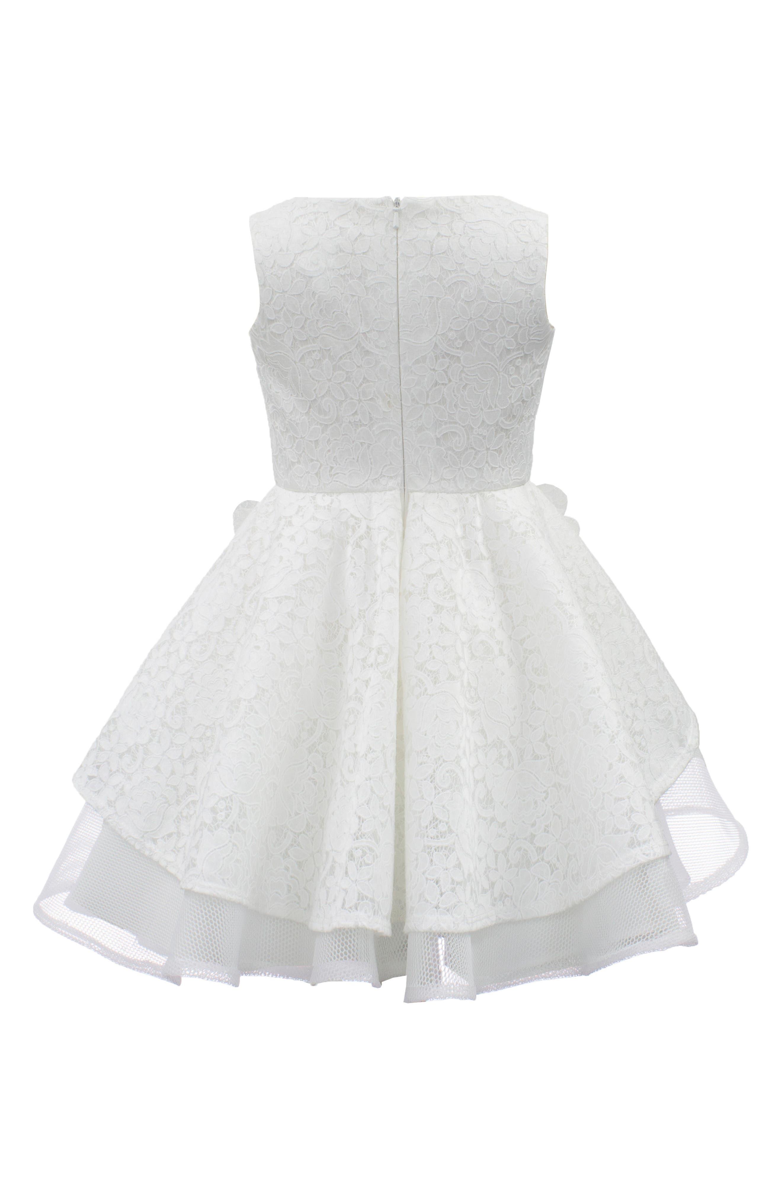 Lace & Techno Mesh Dress,                             Alternate thumbnail 2, color,                             901