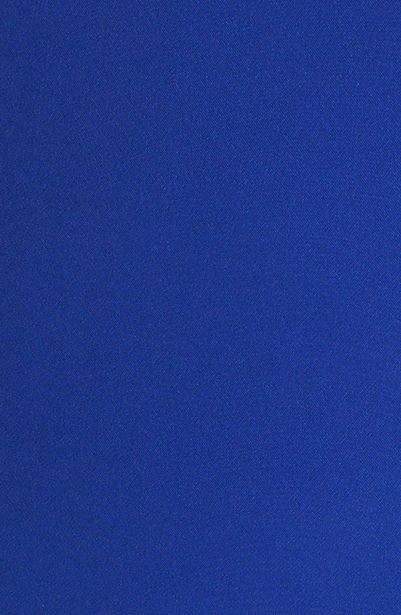Scalloped Trim Shift Dress,                             Alternate thumbnail 5, color,                             480