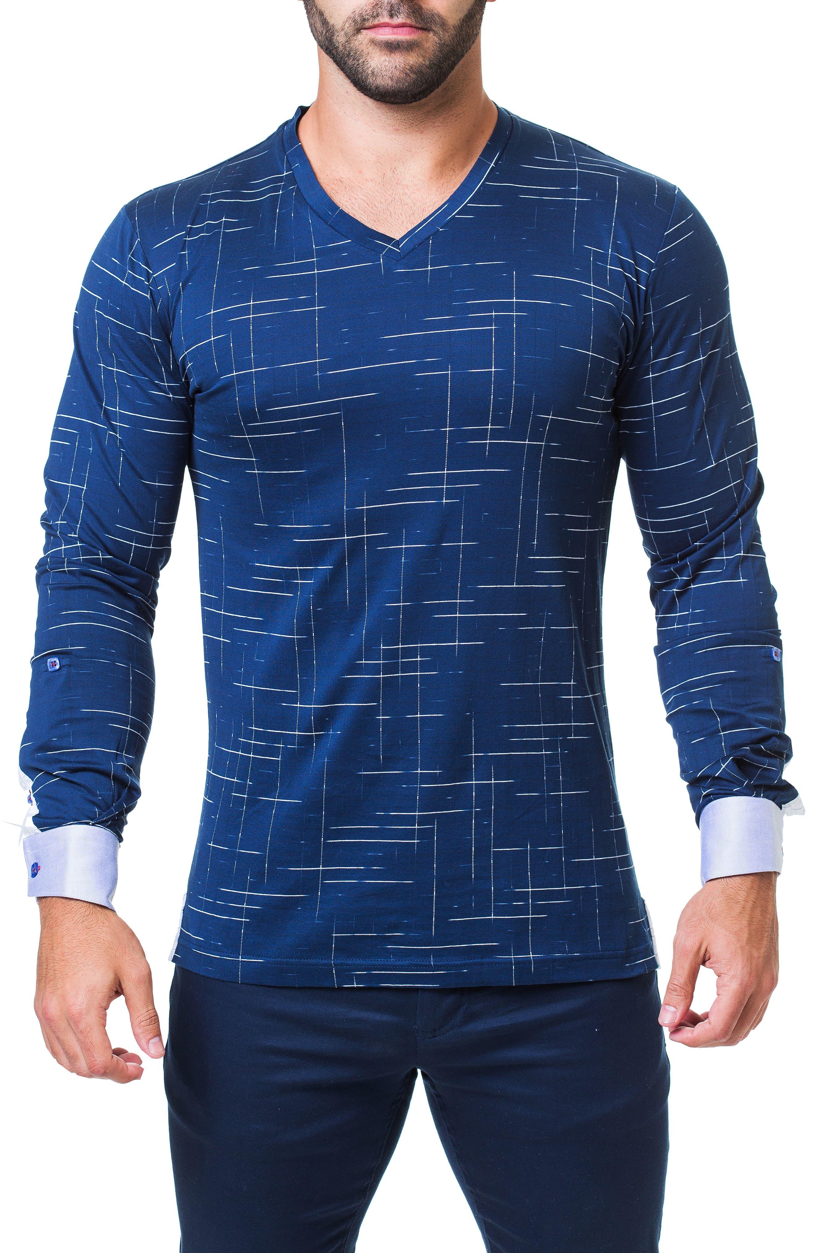 Edison Trim Fit Dash T-Shirt,                         Main,                         color, BLUE