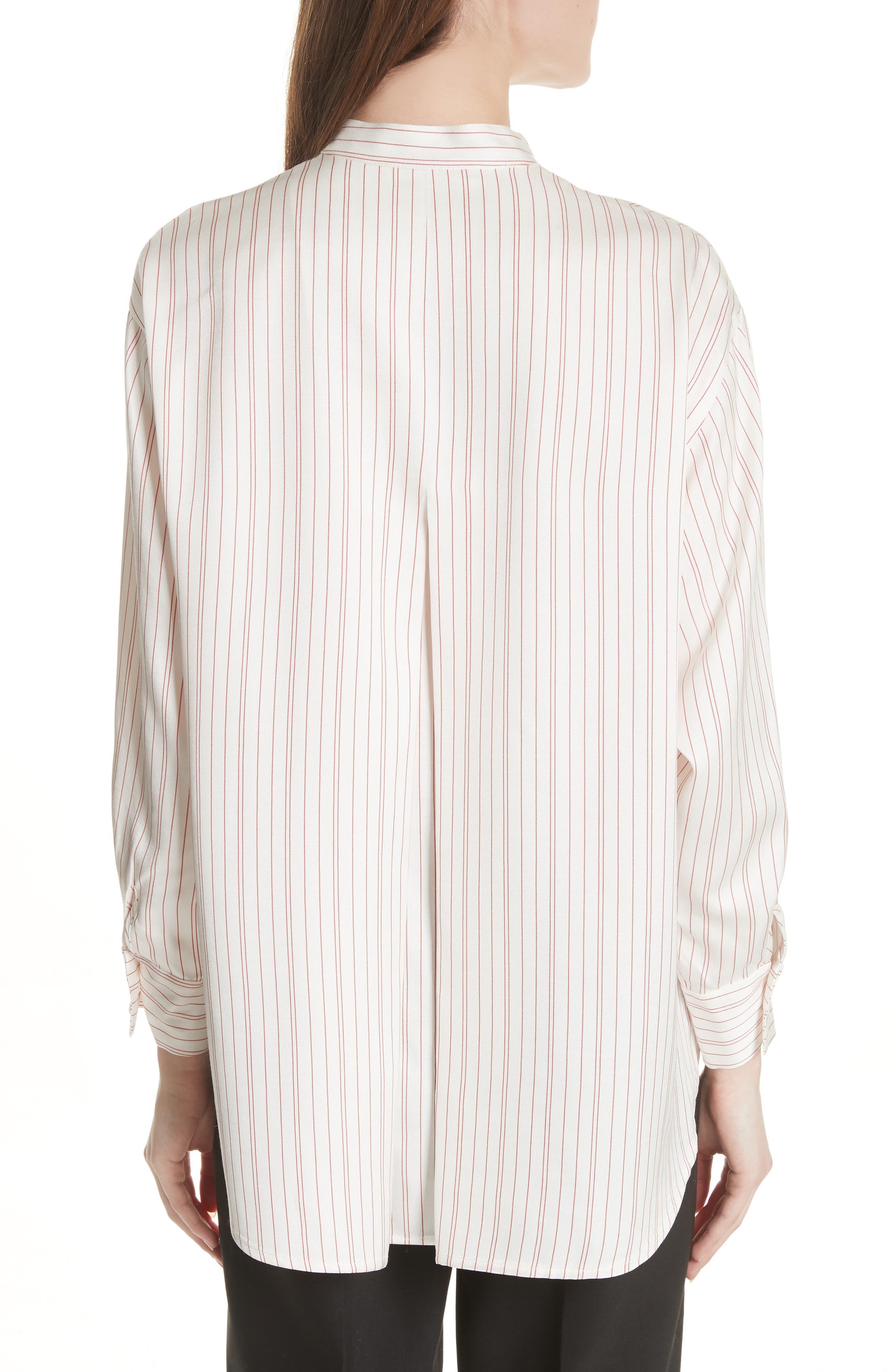 Stripe High/Low Blouse,                             Alternate thumbnail 2, color,                             100