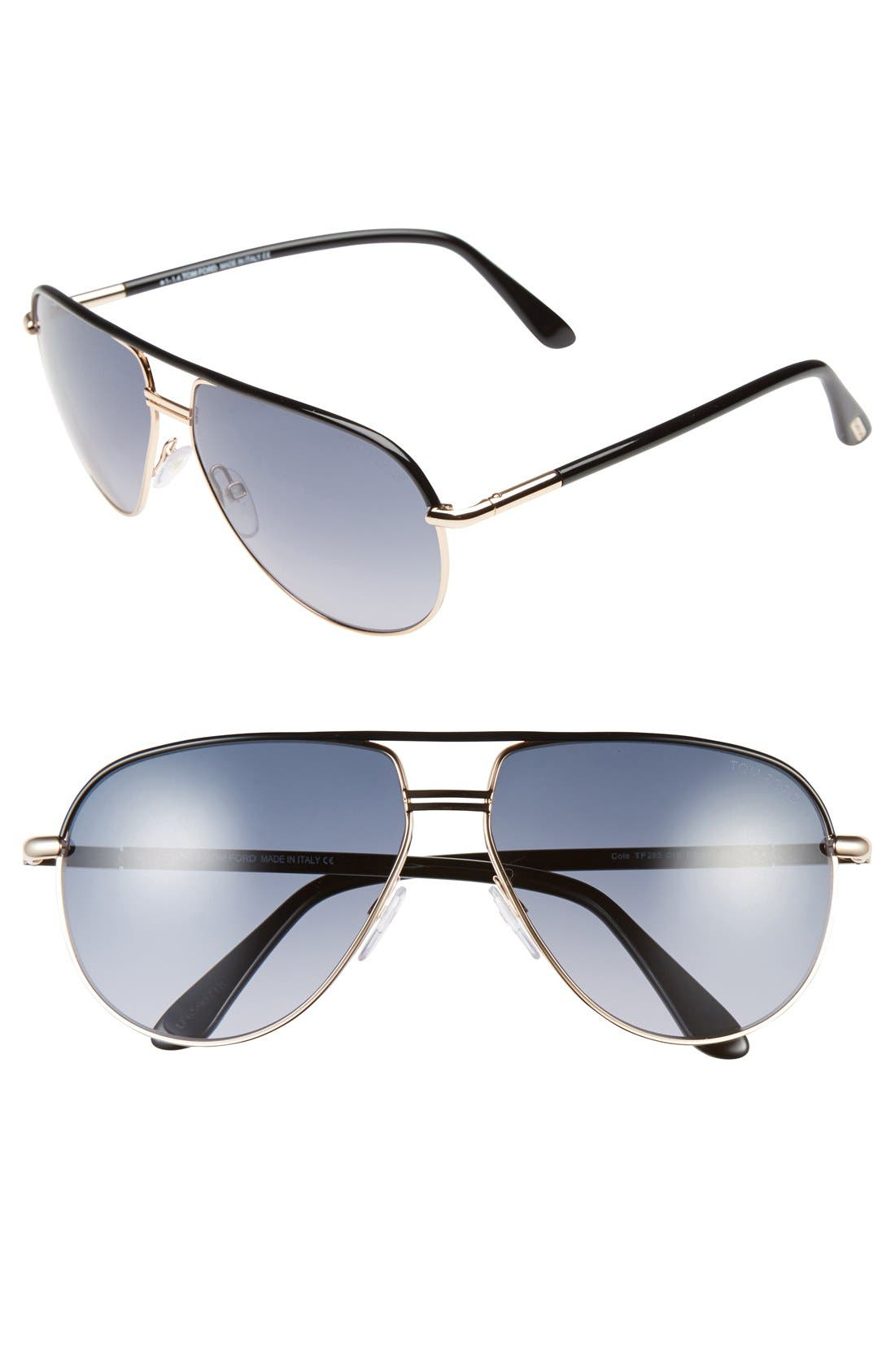 'Cole' 61mm Sunglasses,                             Main thumbnail 1, color,                             710