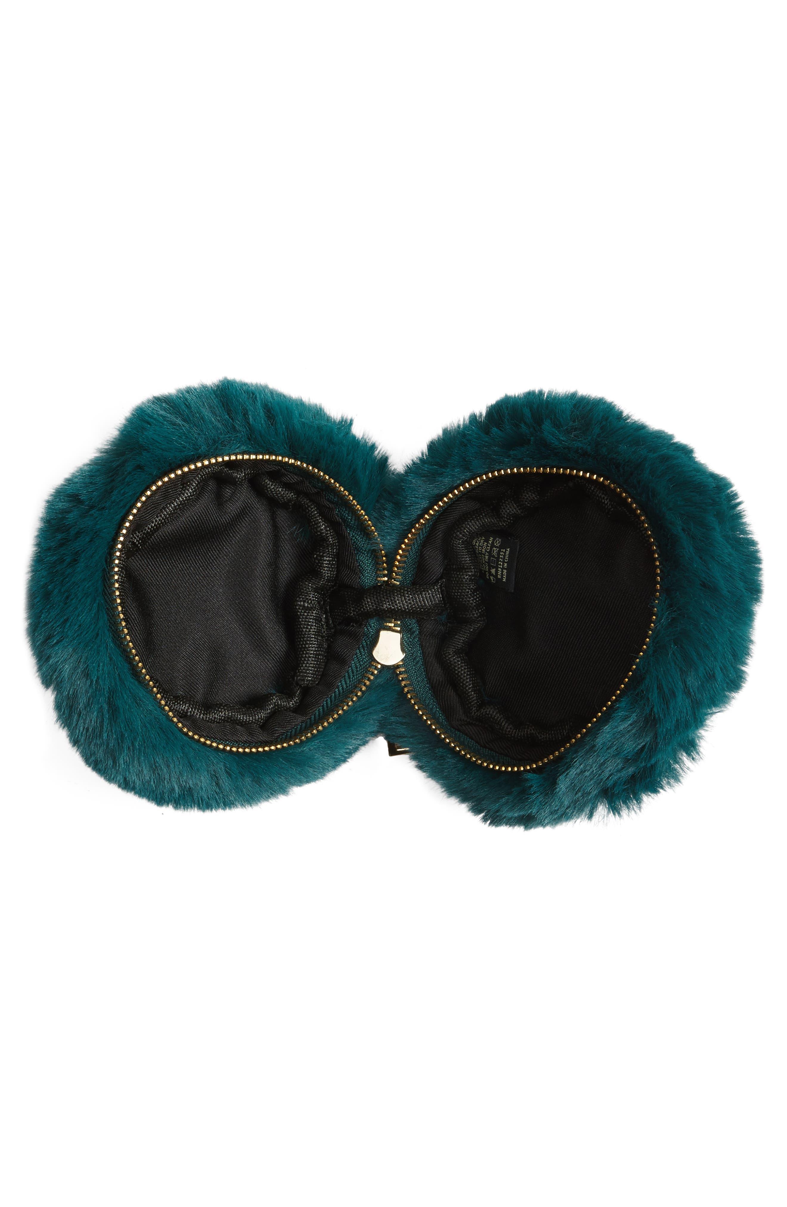 Macaron Faux Fur Wristlet,                             Alternate thumbnail 4, color,                             300